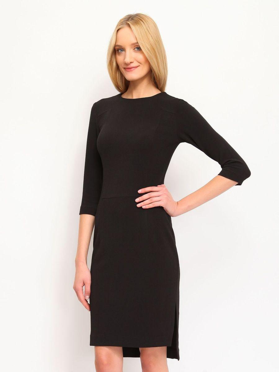 Платье Top Secret, цвет: черный. SSU1428CA. Размер 38 (44)SSU1428CAОчаровательное платье Top Secret, выполненное из вискозы с добавлением полиамида и эластана, идеально впишется в ваш гардероб.Модель срукавами 3/4 и круглым вырезом горловины застегивается по спинке на застежку-молнию. Изысканное платье-миди с удлиненной спинкой, дополненное небольшими разрезами в боковых швах, создаст обворожительный неповторимый образ.Это модное и удобное платье станет превосходным дополнением к вашему гардеробу. Модель подарит вам удобство и поможет вам подчеркнуть вкус и неповторимый стиль.