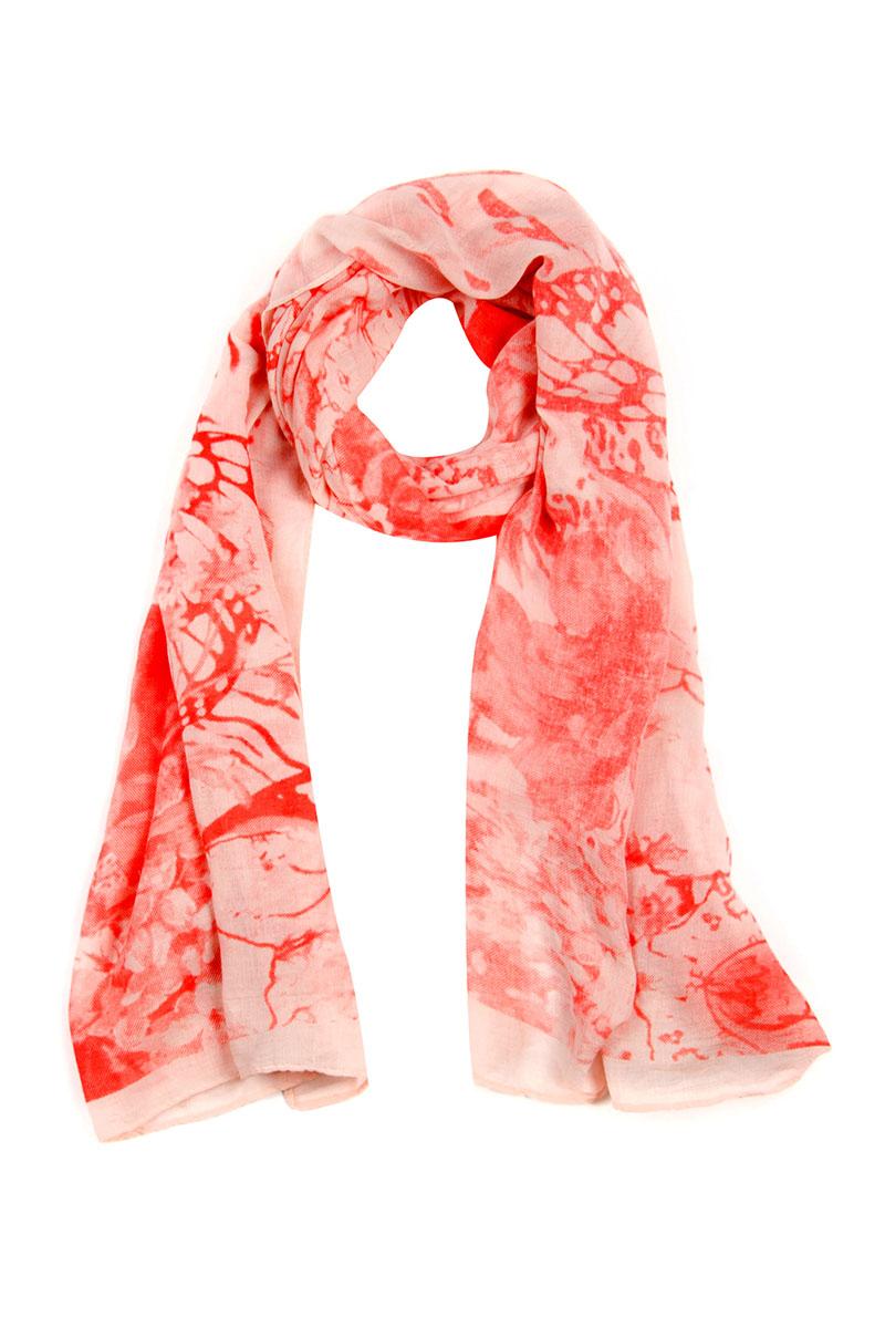 Палантин Moltini, цвет: коралловый, светло-розовый. 4S-1602. Размер 180 см x 85 см4S-1602Элегантный палантин Moltini станет достойным завершением вашего образа.Палантин изготовлен из 100% вискозы. Модель оформлена оригинальным цветочным орнаментом. Палантин красиво драпируется, он превосходно дополнит любой наряд и подчеркнет ваш изысканный вкус.Легкий и изящный палантин привнесет в ваш образ утонченность и шарм.