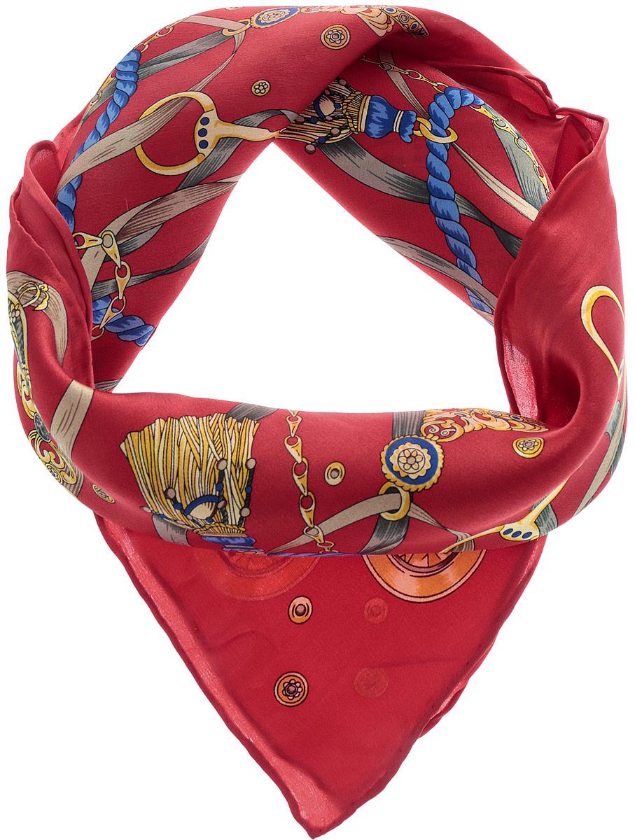 Платок женский Sabellino, цвет: красный, мультиколор. 72Ш_55х55_416_1. Размер 55 см х 55 см72Ш_55х55_416_1Стильный женский платок Sabellino станет великолепным завершением любого наряда. Платок изготовлен из натурального шелка и оформлен оригинальным принтом. Классическая квадратная форма позволяет носить платок на шее, украшать им прическу или декорировать сумочку. Такой платок превосходно дополнит любой наряд и подчеркнет ваш неповторимый вкус и элегантность.