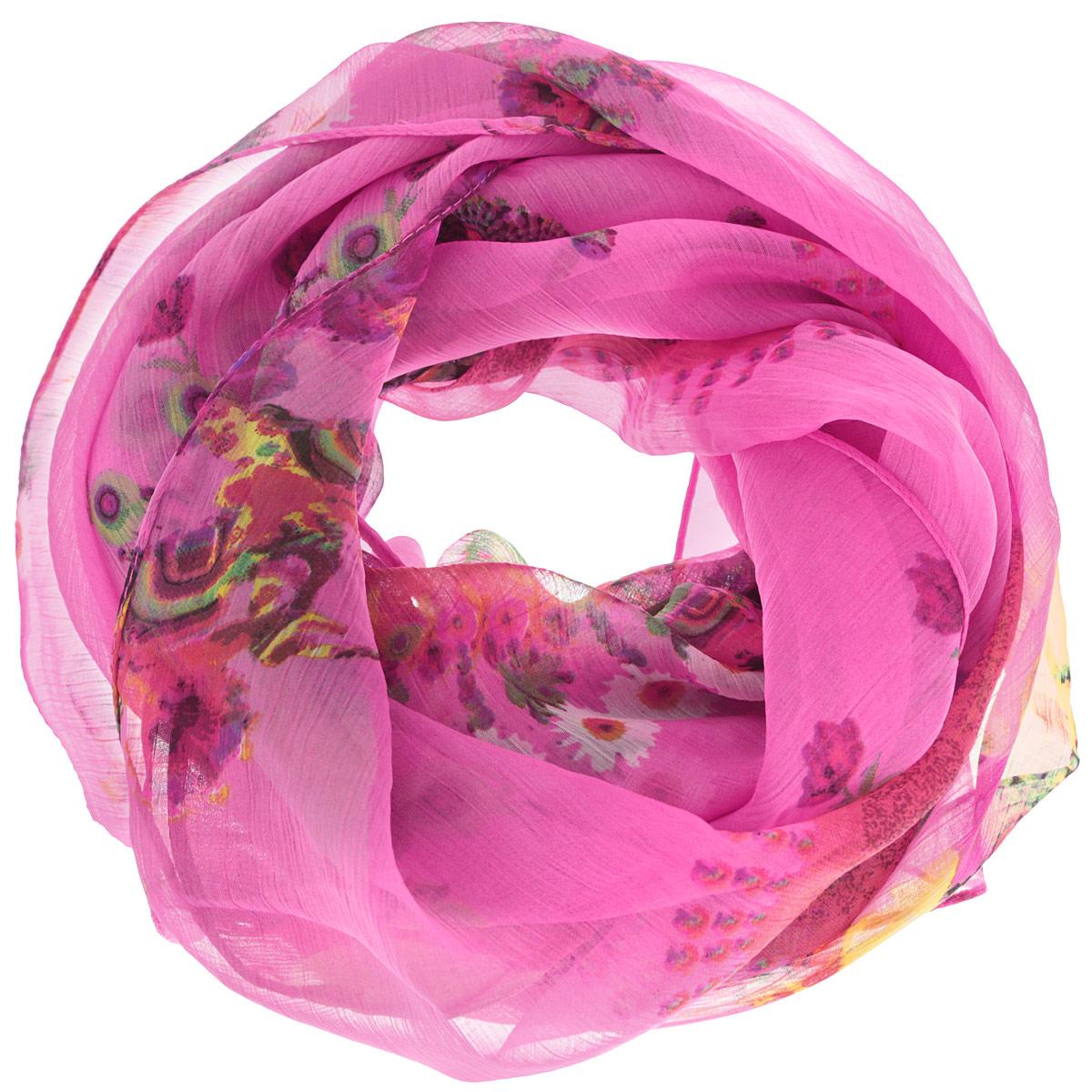 Платок женский Ethnica, цвет: розовый, мультиколор. 524040н. Размер 100 см х 100 см524040нСтильный женский платок Ethnica станет великолепным завершением любого наряда. Платок изготовлен из 100% вискозы и оформлен оригинальным орнаментом. Классическая квадратная форма позволяет носить платок на шее, украшать им прическу или декорировать сумочку. Такой платок превосходно дополнит любой наряд и подчеркнет ваш неповторимый вкус и элегантность.