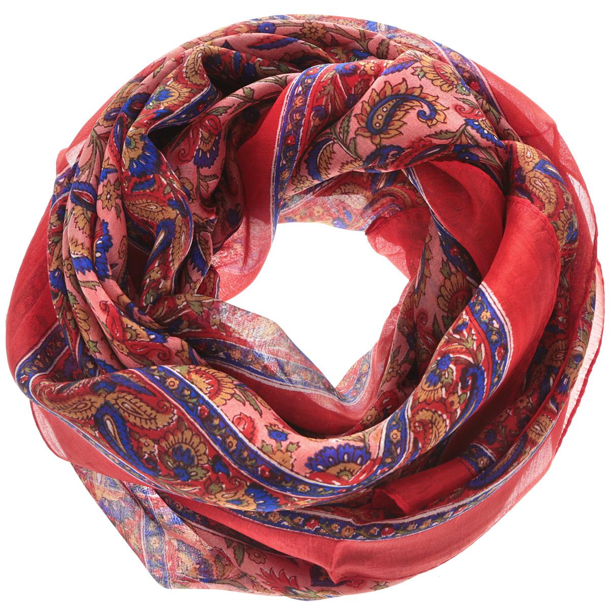 Платок женский Ethnica, цвет: красный, темно-синий, розовый. 560135н. Размер 100 см х 100 см560135нСтильный женский платок Ethnica станет великолепным завершением любого наряда. Платок изготовлен из 100% шелка с использованием натуральных красителей, оформлен оригинальным орнаментом. Классическая квадратная форма позволяет носить платок на шее, украшать им прическу или декорировать сумочку. Такой платок превосходно дополнит любой наряд и подчеркнет ваш неповторимый вкус и элегантность.