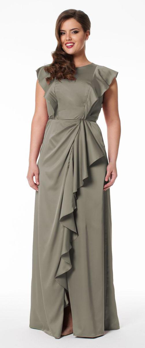 Платье Seam, цвет: темно-бежевый. 4606_502. Размер XL (50)4606_502Элегантное платье Seam выполнено из высококачественного эластичного полиэстера. Такое платье обеспечит вам комфорт и удобство при носке.Модель без рукавов, с круглым вырезом горловины выгодно подчеркнет все достоинства вашей фигуры. Платье-макси застегивается на пуговицу сзади и застежку-молнию сбоку, дополнено завязками на талии. Модель красиво драпируется, спереди украшена разрезом до середины бедра, оформленным оборками. Изысканное платье-макси создаст обворожительный и неповторимый образ.Это модное и удобное платье станет превосходным дополнением к вашему гардеробу, оно подарит вам удобство и поможет вам подчеркнуть свой вкус и неповторимый стиль.