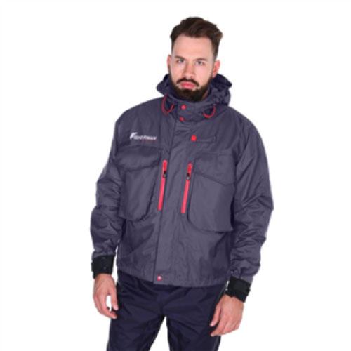 Куртка мужская FisherMan Nova Tour Риф PRO, цвет: графит. 95427-924. Размер S (50)95427-924Продвинутая куртка для забродной рыбалки. Большие нагрудные карманы для коробок под приманки, высокая стойка-воротник и капюшон, защитят вас от любой непогоды, карманы для рук с микрофлисом! Куртка снабжена водонепроницаемыми манжетами, теперь вода не затечет во внутрь будь то сильный дождь, быстрая езда на катере, более того, даже тогда, когда вы опустите руку за своим трофеем в воду! Куртка имеет анатомический крой, позволяющий активно передвигаться с комфортом. На груди куртки имеется специальная петля для спиннинга, чтобы во время замены приманок, ваши руки были свободными! Куртка укороченная, прежде всего будет интересна для любителей активной и забродной рыбалки.