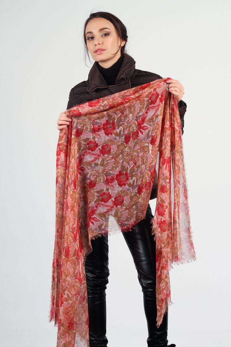 Палантин Fiona Fantozzi, цвет: розовый, красный. BL-6745-1. Размер 70 см х 200 смBL-6745-1Стильный женский палантин Fiona Fantozzi станет великолепным завершением любого наряда.Палантин изготовлен из вискозы с добавлением шелка и оформлен цветочным принтом.Легкий и изящный палантин поможет вам создать изысканный женственный образ, а также согреет в непогоду.