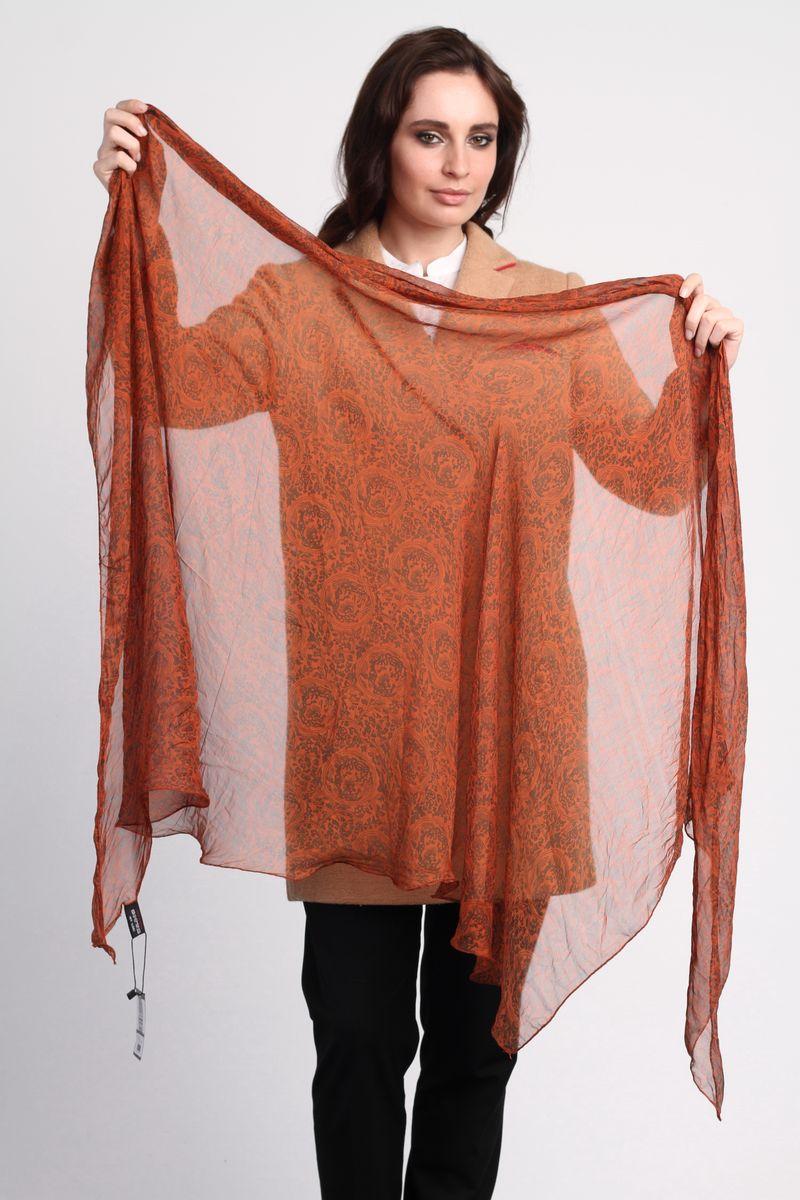 Палантин Sophie Ramage, цвет: темно-оранжевый. CS-SC12-1. Размер 50 см х 190 смCS-SC12-1Стильный женский палантин Sophie Ramage станет великолепным завершением любого наряда.Палантин изготовлен из натурального шелка и оформлен оригинальными узорами.Легкий и изящный палантин поможет вам создать изысканный женственный образ, а также согреет в непогоду.