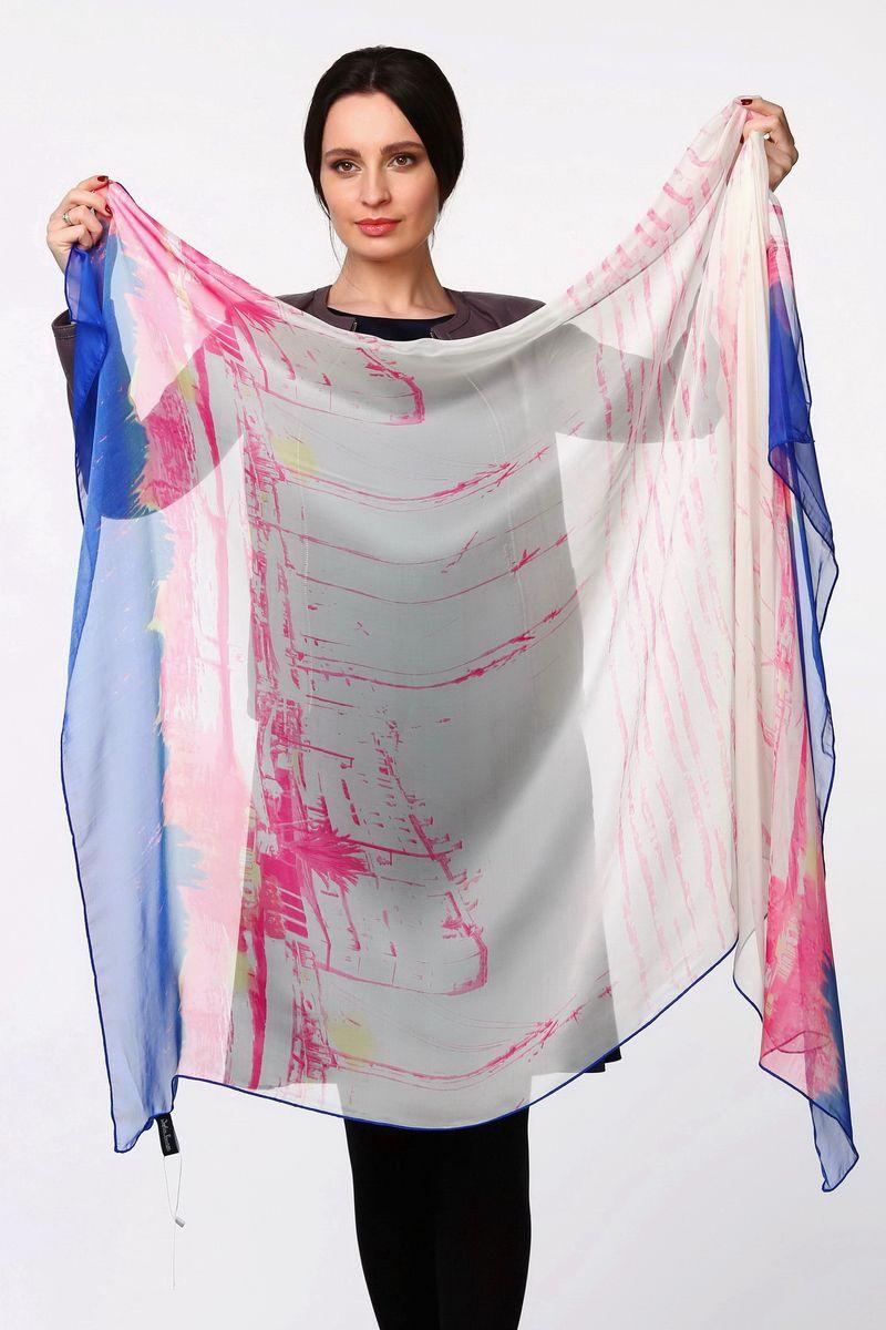Палантин Sophie Ramage, цвет: белый, синий, розовый. HL-11520-3. Размер 80 см х 180 смHL-11520-3Стильный женский палантин Sophie Ramage станет великолепным завершением любого наряда.Палантин изготовлен из полиэстера с добавлением шелка и оформлен оригинальным принтом.Легкий и изящный палантин поможет вам создать изысканный женственный образ, а также согреет в непогоду.