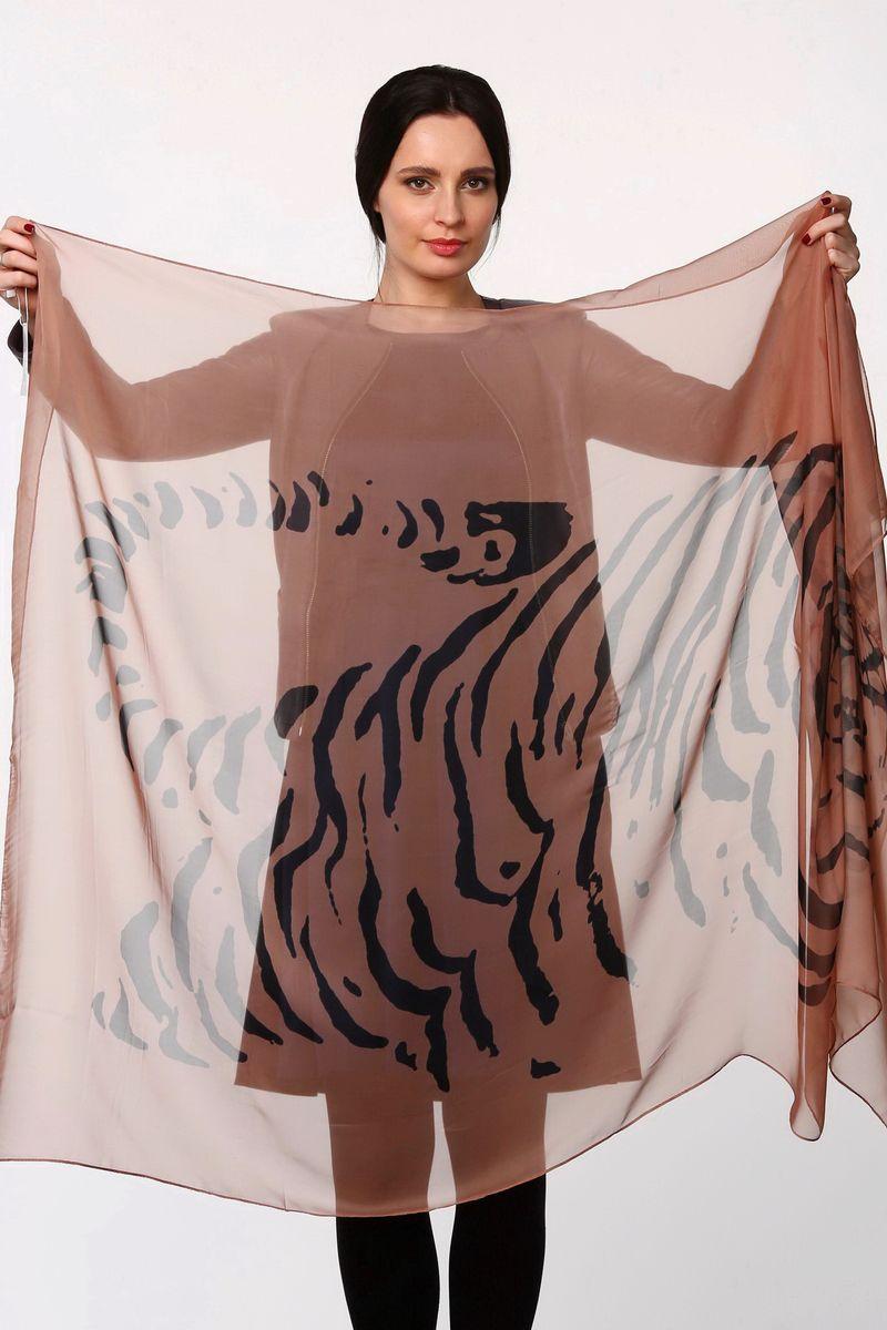Палантин Sophie Ramage, цвет: коричневый, черный. HL-11521-12. Размер 80 см х 180 смHL-11521-12Стильный женский палантин Sophie Ramage станет великолепным завершением любого наряда.Палантин изготовлен из полиэстера с добавлением шелка и оформлен оригинальным принтом.Легкий и изящный палантин поможет вам создать изысканный женственный образ, а также согреет в непогоду.