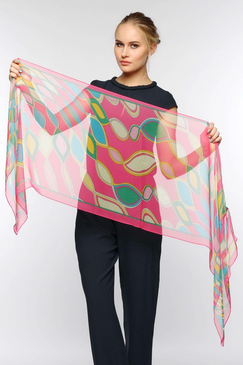 Шарф женский Sophie Ramage, цвет: розовый, зеленый, голубой. YY-11563-16. Размер 50 см x 170 смYY-11563-16Стильный женский шарф Sophie Ramage станет великолепным завершением любого наряда.Шарф изготовлен из натурального шелка и оформлен оригинальным принтом. Изящный шарф поможет вам создать изысканный женственный образ, а также согреет в непогоду.