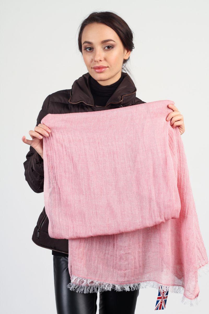 Шарф женский Tommy, цвет: розовый. N018A-1. Размер 65 см х 180 смN018A-1Стильный женский шарф Tommy, выполненный из хлопка с добавлением льна, очень мягкий и приятный на ощупь. Края модели дополнены бахромой. Шарф превосходно дополнит любой наряд и подчеркнет ваш изысканный вкус.Этот модный шарф не только согреет вас в холодное время года, но гармонично дополнит ваш образ.