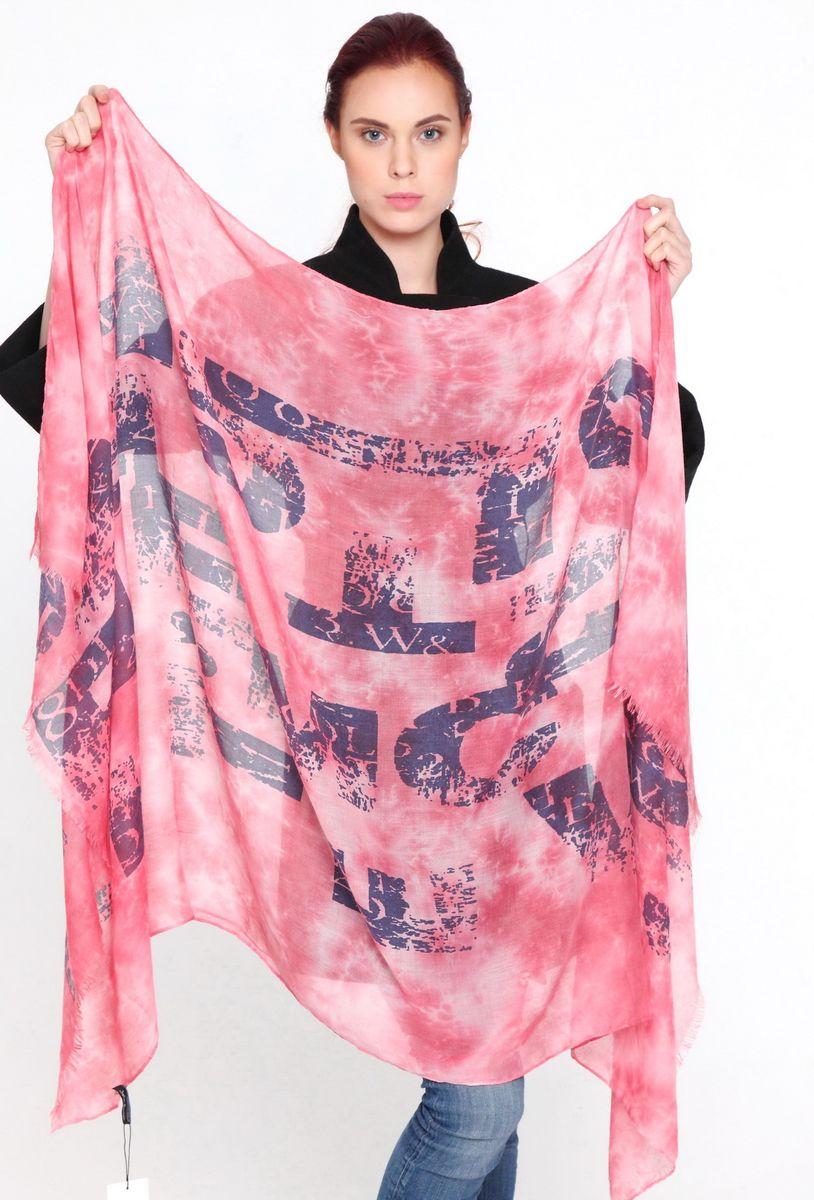 Палантин женский Sophie Ramage, цвет: розовый. YY-21593-10. Размер 95 см х 180 смYY-21593-10Стильный женский палантин Sophie Ramage изготовлен из модала с добавлением шерсти, позволит вам создать неповторимый и запоминающийся образ. Палантин имеет отличное качество и приятную текстуру материала, он подарит настоящий комфорт при носке, а большие размеры позволят завязать изделие множеством вариантов. Палантин оформлен оригинальным принтом, а края декорированы бахромой.В этом палантине вы всегда будете выглядеть женственной и привлекательной.