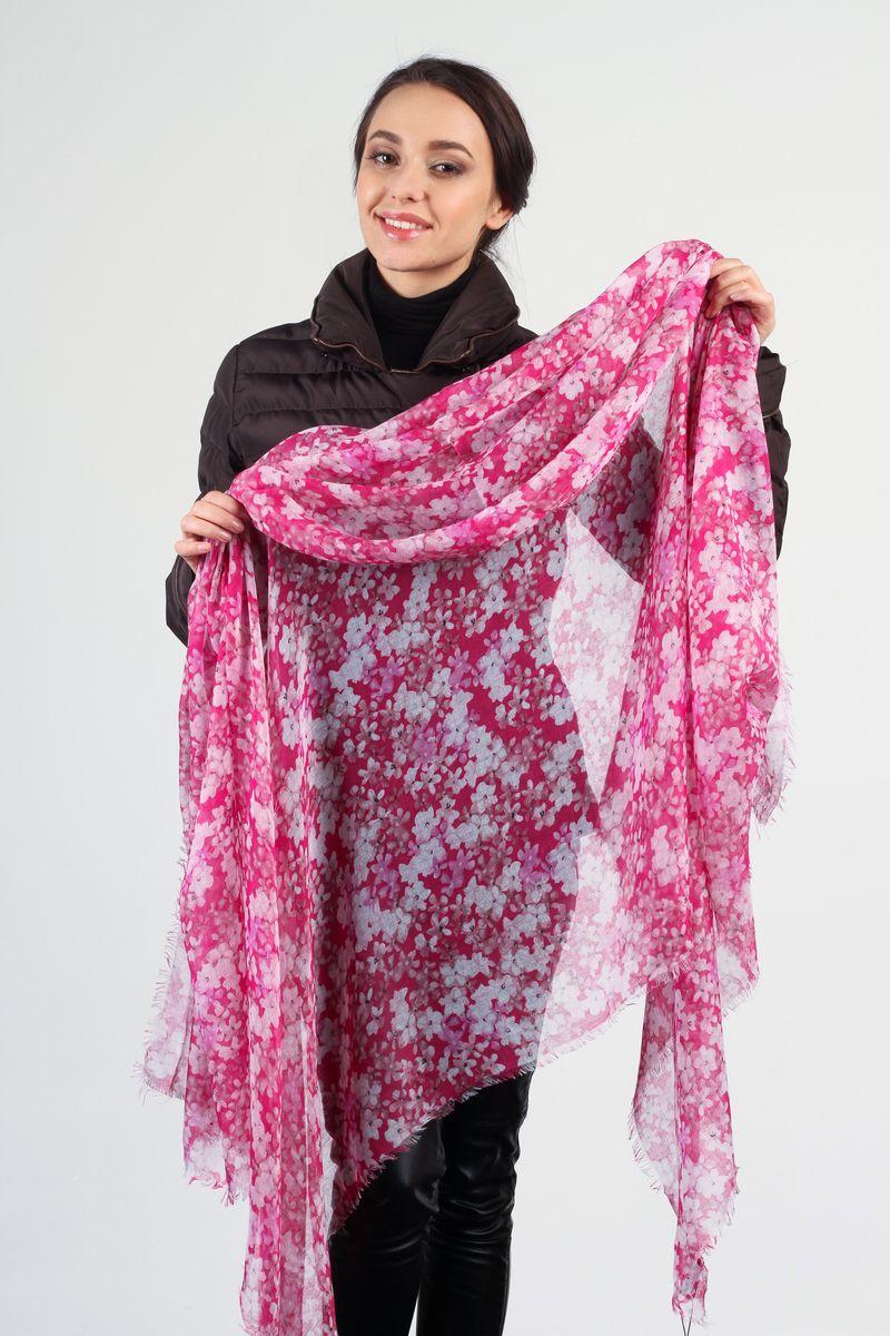 Палантин Laura Milano, цвет: ярко-розовый, белый. SC-7301-2. Размер 110 см х 180 смSC-7301-2Стильный женский палантин Laura Milano станет великолепным завершением любого наряда.Палантин изготовлен из вискозы с добавлением шелка и оформлен цветочным принтом. По краям модель дополнена неширокой бахромой. Изящный палантин поможет вам создать изысканный женственный образ, а также согреет в непогоду.