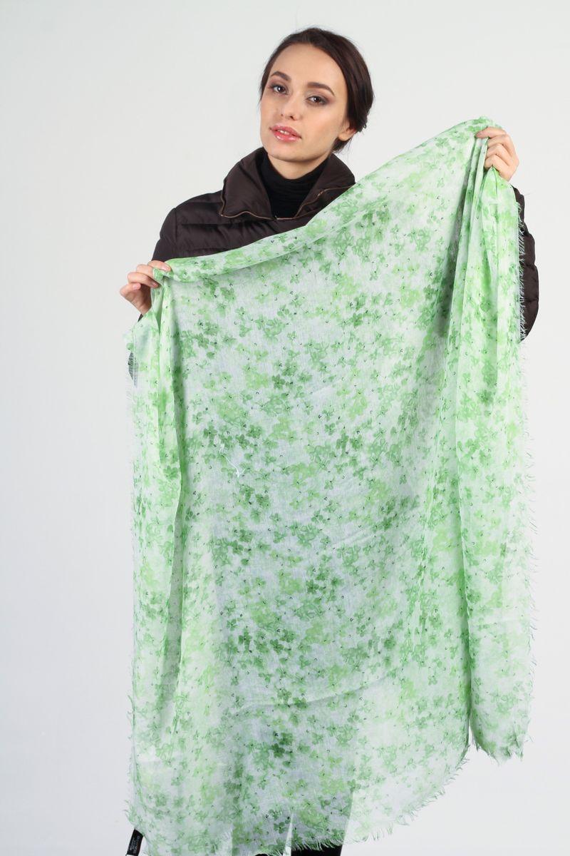 Палантин Laura Milano, цвет: зеленый, белый. SC-7301-3. Размер 110 см х 180 смSC-7301-3Стильный женский палантин Laura Milano станет великолепным завершением любого наряда.Палантин изготовлен из вискозы с добавлением шелка и оформлен цветочным принтом. По краям модель дополнена неширокой бахромой. Изящный палантин поможет вам создать изысканный женственный образ, а также согреет в непогоду.