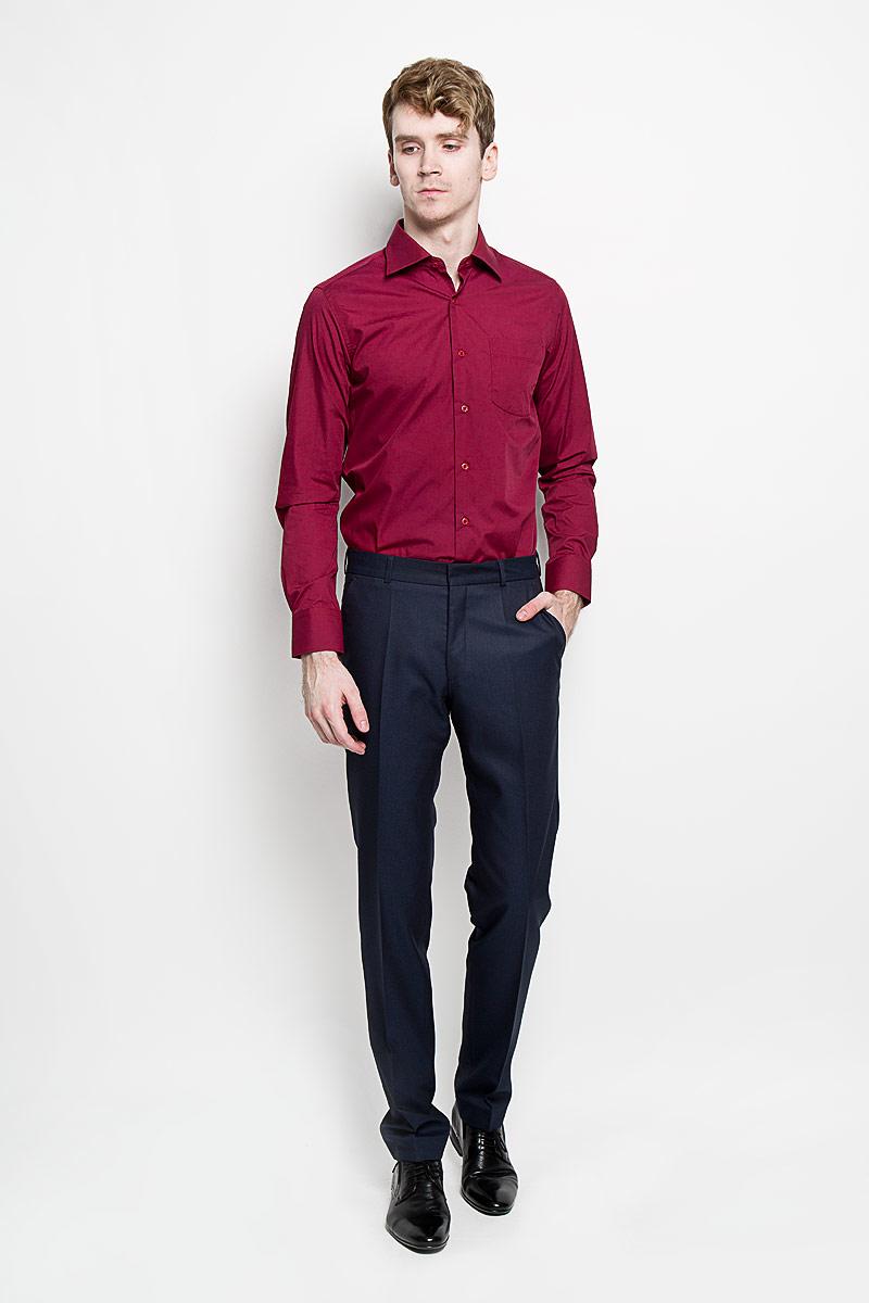 Рубашка мужская KarFlorens, цвет: бордовый. SW 48-01. Размер 43/44 (54-176)SW 48-01Мужская рубашка KarFlorens, изготовленная из высококачественного хлопка с добавлением микрофибры, необычайно мягкая и приятная на ощупь, она не сковывает движения и позволяет коже дышать, обеспечивая комфорт.Модель с классическим отложным воротником, длинными рукавами и полукруглым низом, застегивается на пластиковые пуговицы. Манжеты со срезанными уголками и застежкой на пуговицы. Ширину манжет можно варьировать благодаря дополнительной пуговице. Пуговицы декорированы логотипом KarFlorens. На груди расположен накладной карман. Эта рубашка - идеальный вариант для повседневного гардероба. Такая модель порадует настоящих ценителей комфорта и практичности!