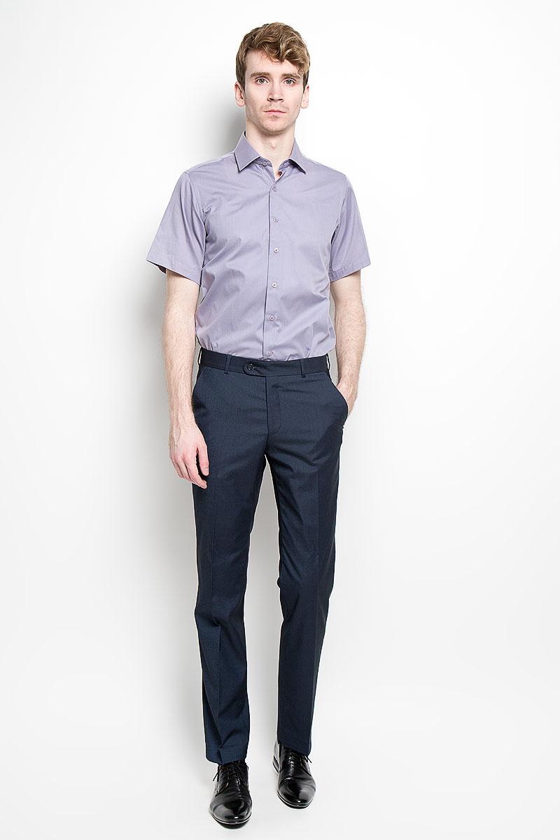 Рубашка мужская KarFlorens, цвет: серо-сиреневый. SW 83_05. Размер 39/40 (46/170)SW 83_05Мужская рубашка KarFlorens, изготовленная из высококачественного хлопка с добавлением микрофибры, необычайно мягкая и приятная на ощупь, она не сковывает движения и позволяет коже дышать, обеспечивая комфорт.Модель приталенного кроя с короткими рукавами и отложным воротником застегивается на пластиковые пуговицы, которые декорированы названием бренда. Такая рубашка станет идеальным вариантом для повседневного гардероба. Она порадует настоящих ценителей комфорта и практичности!