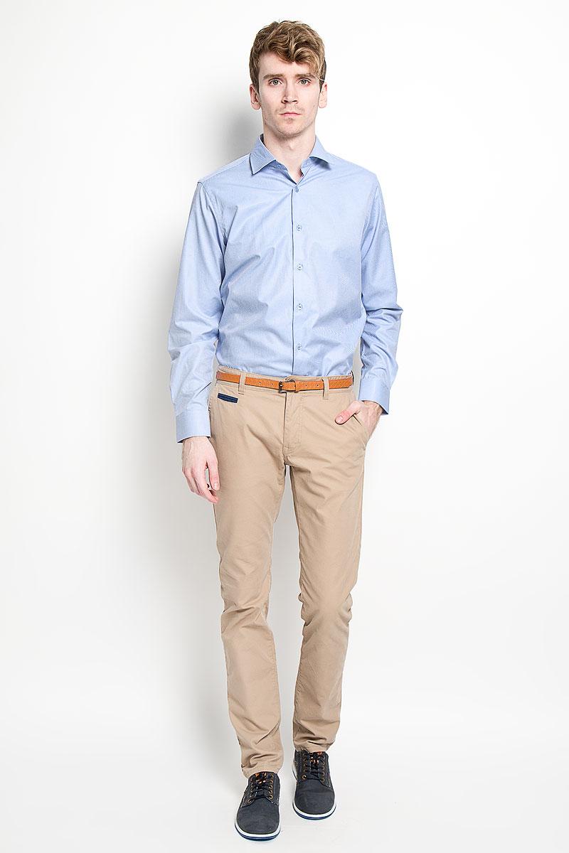 Рубашка мужская KarFlorens, цвет: голубой. SW 56-03. Размер 43/44 (54/182)SW 56-03Мужская классическая рубашка KarFlorens, изготовленная из высококачественного хлопка с добавлением микрофибры, необычайно мягкая и приятная на ощупь, она не сковывает движения и позволяет коже дышать, обеспечивая комфорт.Модель с классическим отложным воротником, длинными рукавами и полукруглым низом, застегивается на пластиковые пуговицы. Манжеты со срезанными уголками и застежкой на пуговицы. Ширину манжет можно варьировать, благодаря дополнительной пуговице. Пуговицы декорированы логотипом KarFlorens. Модель оформлена принтом в микрополоску. Эта рубашка - идеальный вариант для повседневного гардероба. Такая модель порадует настоящих ценителей комфорта и практичности!