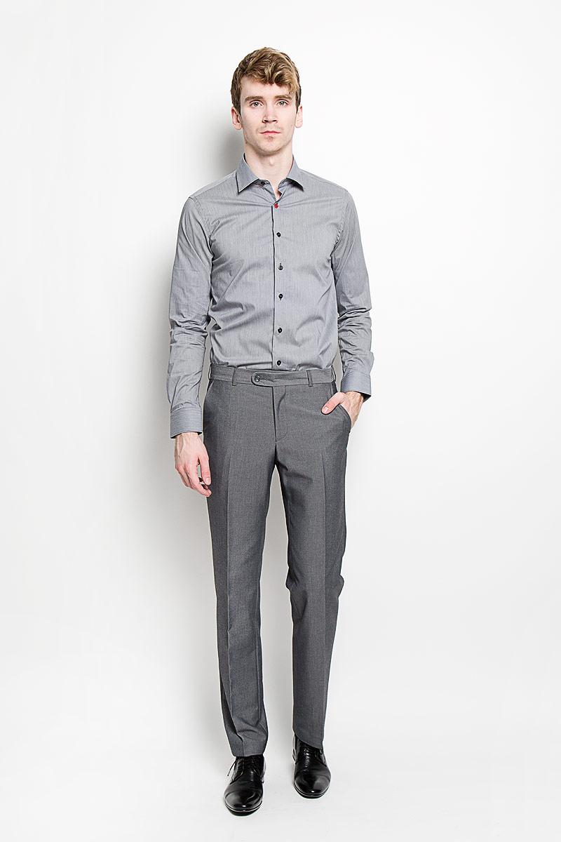 Рубашка мужская KarFlorens, цвет: серый. SW 84_01. Размер 43/44 (54/182)SW 84_01Мужская рубашка KarFlorens, изготовленная из высококачественного хлопка с добавлением нейлона и лайкры, необычайно мягкая и приятная на ощупь, она не сковывает движения и позволяет коже дышать, обеспечивая комфорт.Рубашка с длинными рукавами и отложным воротником застегивается на пуговицы, которые оформлены тиснением с названием бренда. Манжеты со срезанными уголками и регулировкой ширины также застегиваются на пуговицы.Такая рубашка станет идеальным вариантом для повседневного гардероба. Она порадует настоящих ценителей комфорта и практичности!