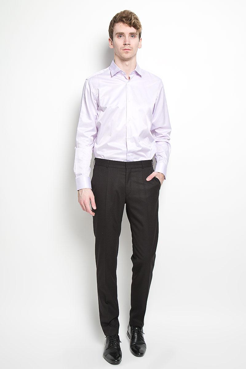 Рубашка мужская KarFlorens, цвет: розовый. SW 57_01. Размер 43/44 (54/176)SW 57_01Мужская рубашка KarFlorens, изготовленная из высококачественного хлопка с добавлением микрофибры, необычайно мягкая и приятная на ощупь, она не сковывает движения и позволяет коже дышать, обеспечивая комфорт.Классическая модель с длинными рукавами и отложным воротником застегивается на пластиковые пуговицы, которые декорированы названием бренда. Манжеты со срезанными уголками также застегиваются на пуговицы. Такая рубашка станет идеальным вариантом для повседневного гардероба. Она порадует настоящих ценителей комфорта и практичности!