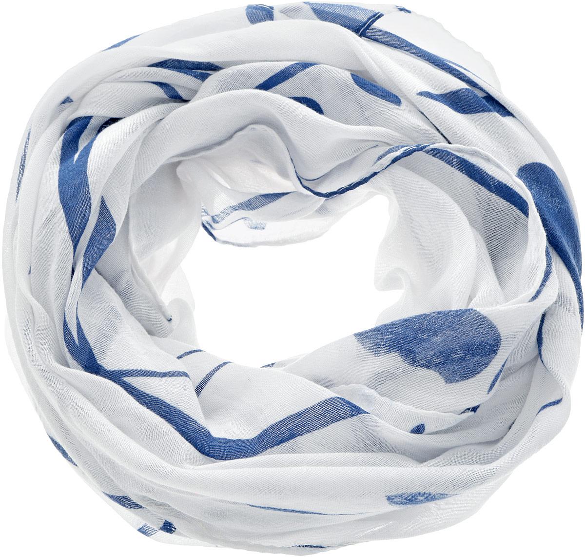 Палантин Moltini, цвет: белый, синий. 4A-1601. Размер 85 см х 180 см4A-1601Элегантный палантин Moltini станет достойным завершением вашего образа.Палантин изготовлен из 100% вискозы. Модель оформлена оригинальным орнаментом. Палантин красиво драпируется, он превосходно дополнит любой наряд и подчеркнет ваш изысканный вкус.Легкий и изящный палантин привнесет в ваш образ утонченность и шарм.