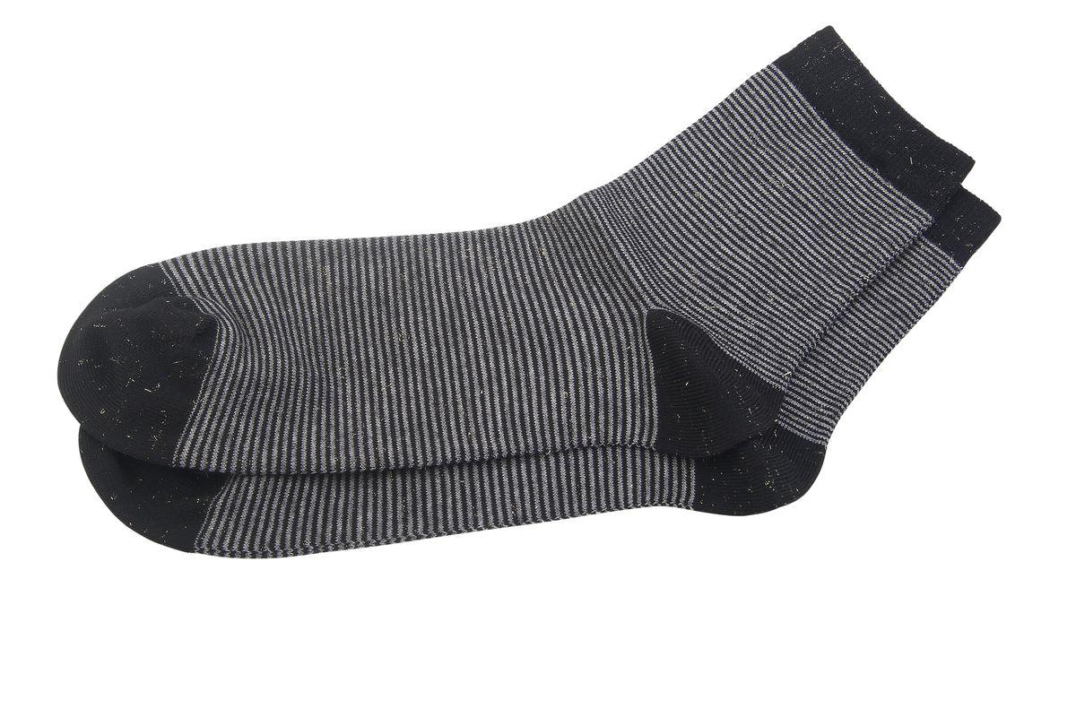 Носки женские Askomi Casual, цвет: черный. AG-2330. Размер 25 (39-41)AG-2330Женские носки Askomi Casual для повседневной носки выполнены из высококачественного материала. Сочетание вискозы и хлопка Pima придает изделию прочность, шелковистость и мягкость. Носок и пятка укреплены, что значительно увеличивает износостойкость носков. Кеттельный шов не ощутим для ноги. Стильный дизайн с тонкими горизонтальными полосками, дополненный люрексом, выгодно подчеркнет ваш стиль.