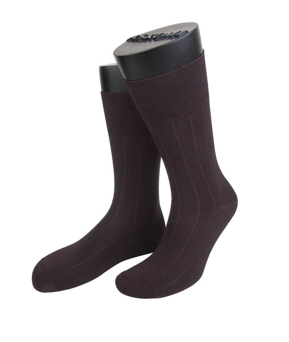 Носки мужские Askomi Classic, цвет: коричневый. АМ-7119_2201. Размер 25 (39-40)АМ-7119_2201Мужские носки Askomi для повседневной носки выполнены из мерсеризованного хлопка с добавлением полиамида. Такой хлопок придает блеск, эластичность и ощущение шелковистости.Носок и пятка укреплены, что значительно увеличивает износостойкость носков. Двойной борт для плотной фиксации не пережимает сосуды. Кеттельный шов не ощутим для ноги.
