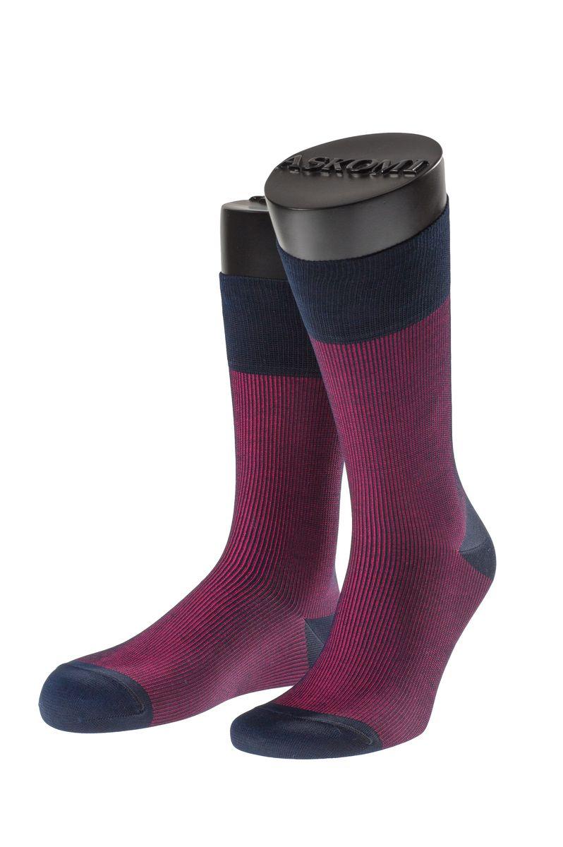 Носки мужские Askomi Casual, цвет: малиновый. АМ-7705. Размер 25 (39-40)АМ-7705_5201Мужские носки Askomi Casual выполнены из мерсеризованного хлопка с добавлением полиамида. Двойной борт для плотной фиксации не пережимает сосуды. Укрепление мыска и пятки для идеальной прочности. Кеттельный шов не ощутим для ноги.