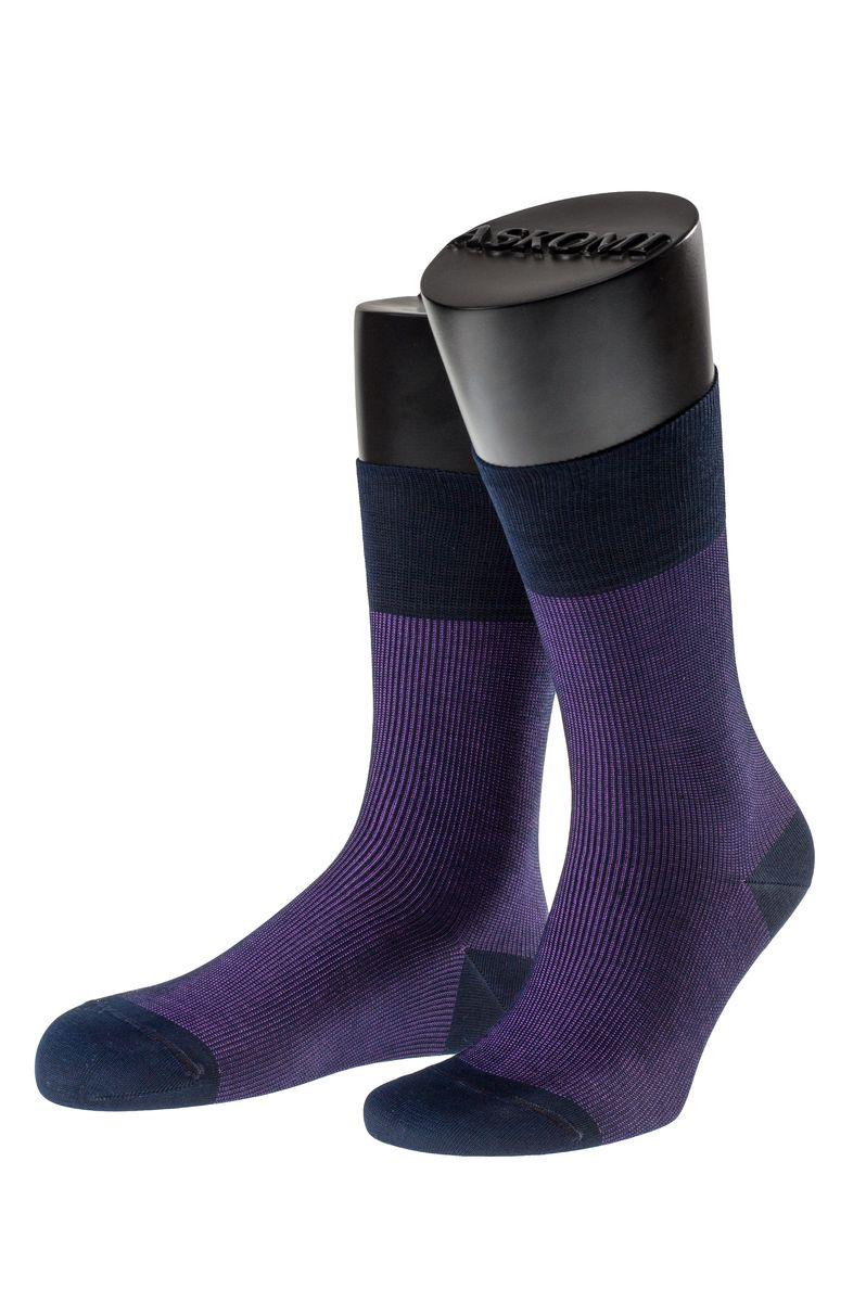 Носки мужские Askomi Casual, цвет: фиолетовый. АМ-7702_8070. Размер 25 (39-40)АМ-7702_8070Мужские носки Askomi Casual выполнены из мерсеризованного хлопка с добавлением полиамида. Двойной борт для плотной фиксации не пережимает сосуды. Укрепление мыска и пятки для идеальной прочности. Кеттельный шов не ощутим для ноги.