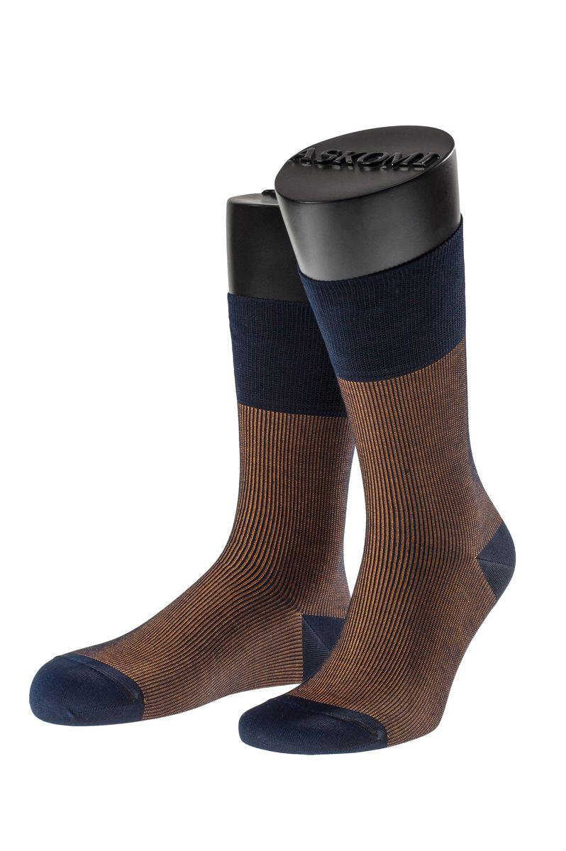 Носки мужские Askomi Casual, цвет: коричневый. АМ-7700_1203. Размер 25 (39-40)АМ-7700_1203Мужские носки Askomi Casual выполнены из мерсеризованного хлопка с добавлением полиамида. Двойной борт для плотной фиксации не пережимает сосуды. Укрепление мыска и пятки для идеальной прочности. Кеттельный шов не ощутим для ноги.