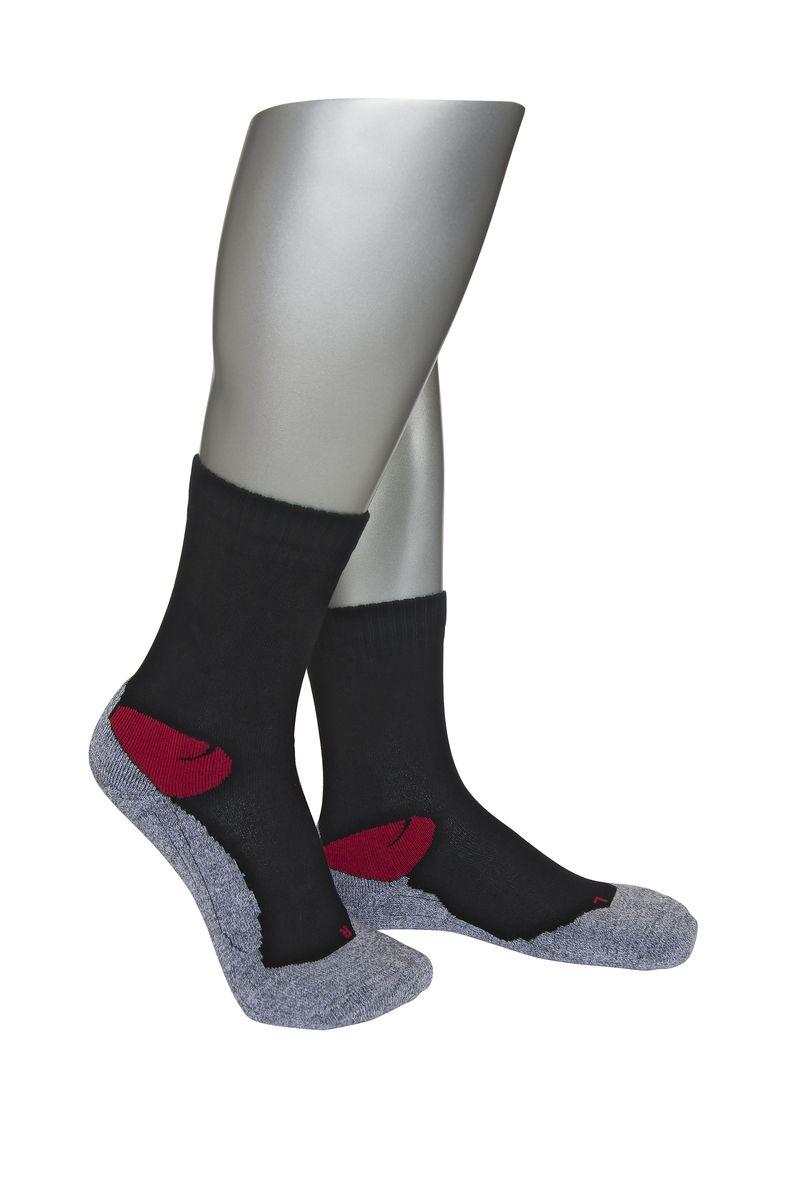 Носки мужские Askomi Sport, цвет: серый, черный, красный. АМ-4000. Размер 29 (43-44)АМ-4000Мужские спортивные носки Askomi Sport выполнены из сочетания хлопка и функциональных волокон - поликолона и эластана. Эргономичная модель имеет анатомическую форму носка для левой и правой ноги. Плюшевая стопа смягчает ударные нагрузки на ногу.