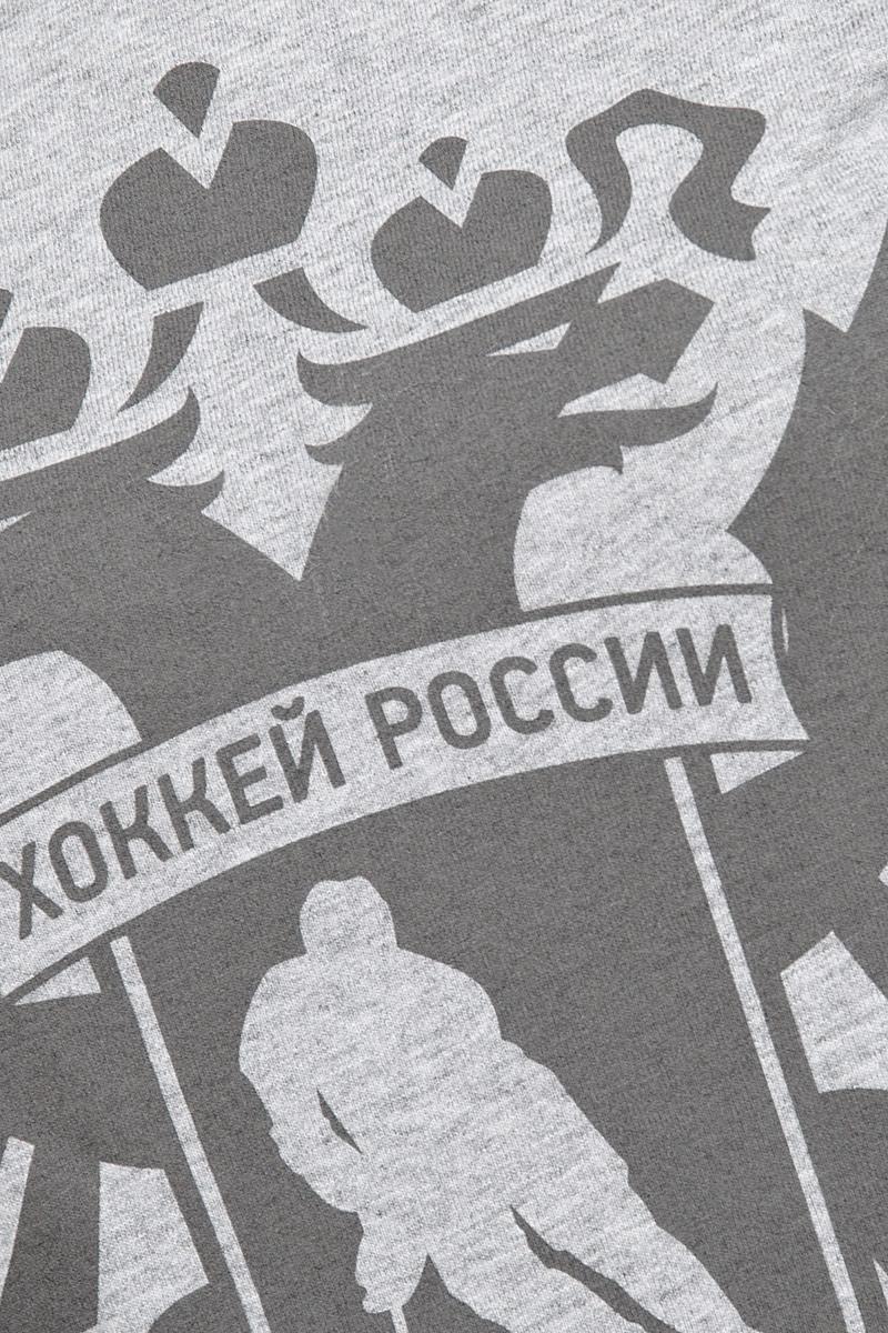 Футболка женская Красная Машина Хоккей России.  Герб, цвет:  серый.  65160047.  Размер L (48)