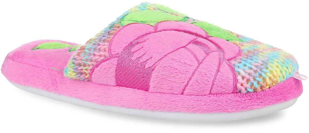 Тапки женские Lamaliboo, цвет: розовый. 14WHC015_р. Размер 3614WHC015_рНевероятно удобные женские тапочки от Lamaliboo, выполненные из текстиля, помогут отдохнуть вашим ногам после трудового дня. Внешняя сторона изделия оформлена вязкой из цветных нитей и дополнена нашивками в виде роз, а также ярлычками на мыске. Подкладка и стелька, изготовленные из текстиля, комфортны при ходьбе. Стелька украшена нашивками в форме лепестков. Подошва с рельефным протектором обеспечивает сцепление с любыми поверхностями. Такие тапочки покорят вас с первого взгляда.