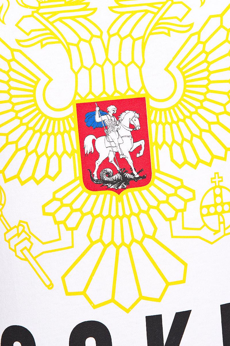 Футболка мужская Красная Машина Russia.  Hockey, цвет:  белый, желтый, черный.  Размер XXXL (56)
