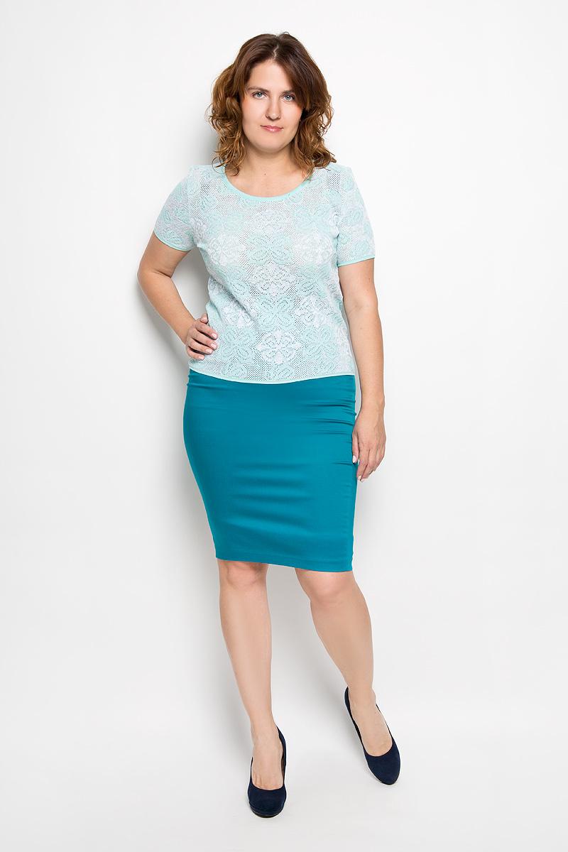 Юбка Milana Style, цвет: бирюзовый. 30316. Размер L (48)30316Эффектная юбка-карандаш Milana Style выполнена из хлопка с добавлением полиэстера, она обеспечит вам комфорт и удобство при носке. Такой материал обладает высокой гигроскопичностью, великолепно пропускает воздух и не раздражает кожуОднотонная юбка-карандаш застегивается на застежку-молнию сбоку, на поясе имеются шлевки для ремня. Модная юбка выгодно освежит и разнообразит ваш гардероб. Создайте женственный образ и подчеркните свою яркую индивидуальность! Классический фасон и оригинальное оформление этой юбки позволят вам сочетать ее с любыми нарядами