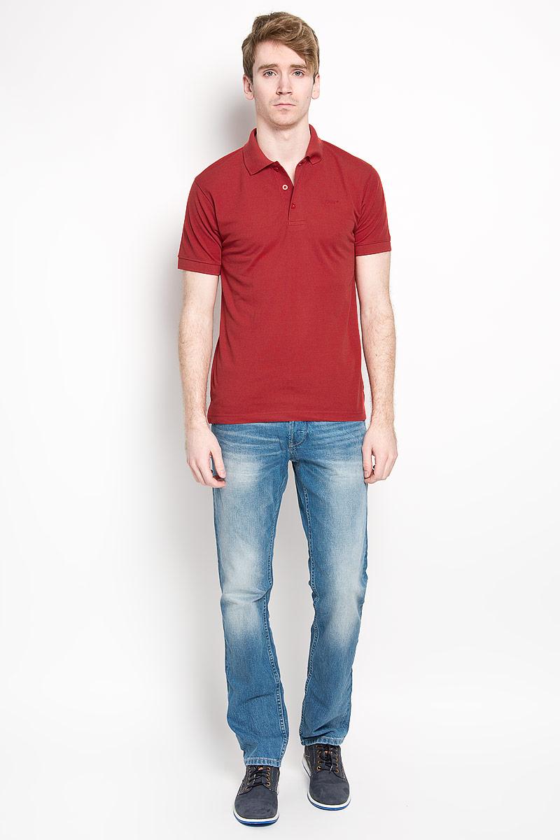 Поло мужское Karff, цвет: красный. 97013-01. Размер L (52)97013-01Мужская футболка-поло Karff, изготовленная из натурального хлопка, обладает высокой теплопроводностью, воздухопроницаемостью и гигроскопичностью, позволяет коже дышать.Модель с короткими рукавами и отложным воротником - идеальный вариант для создания оригинального современного образа. Сверху футболка-поло застегивается на 3 пуговицы. Низ рукавов и воротник модели выполнены резинкой. На груди изделие оформлено вышивкой в виде названия бренда.Такая модель подарит вам комфорт в течение всего дня и послужит замечательным дополнением к вашему гардеробу.