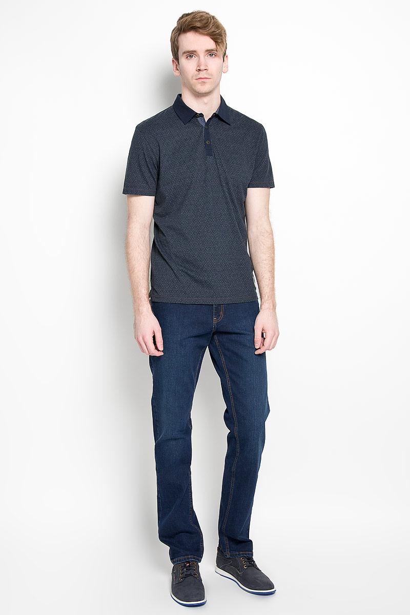 Джинсы мужские F5, цвет: темно-синий. 160125_0930. Размер 32-32 (48-32)160125_0930Мужские джинсы F5 станут стильным дополнением к вашему гардеробу. Изготовленные из хлопка с добавлением эластана, они тактильно приятные, позволяют коже дышать.Джинсы прямого кроя застегиваются на металлическую пуговицу на поясе и ширинку на молнии, также имеются шлевки для ремня. Спереди модель дополнена двумя втачными карманами и одним секретным кармашком, а сзади - двумя большими накладными карманами. Оформлено изделие контрастной строчкой и легким эффектом потертости. Современный дизайн и расцветка делают эти джинсы модным предметом мужской одежды. Такая модель подарит вам комфорт в течение всего дня.