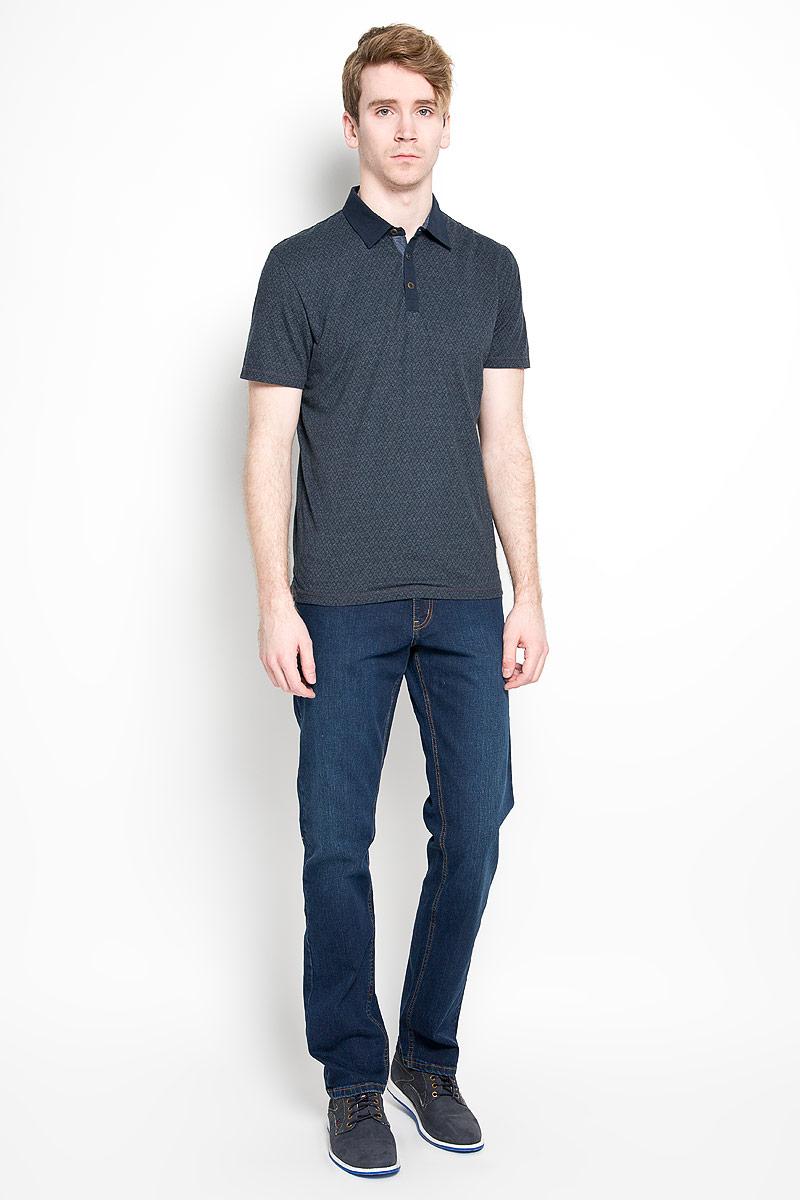 Поло мужское Tom Tailor, цвет: темно-серый, черный. 1530871.00.10_6593. Размер L (50)1530871.00.10_6593Стильная мужская футболка-поло Tom Tailor изготовленная из высококачественных материалов, обладает высокой теплопроводностью, воздухопроницаемостью и гигроскопичностью, позволяет коже дышать.Модель с короткими рукавами и отложным воротником станет идеальным вариантом для создания оригинального современного образа. Сверху футболка-поло застегивается на две металлические пуговицы. Модель оформлена нашивкой с названием бренда. По бокам небольшие разрезы.Такая модель подарит вам комфорт в течение всего дня и послужит замечательным дополнением к вашему гардеробу.