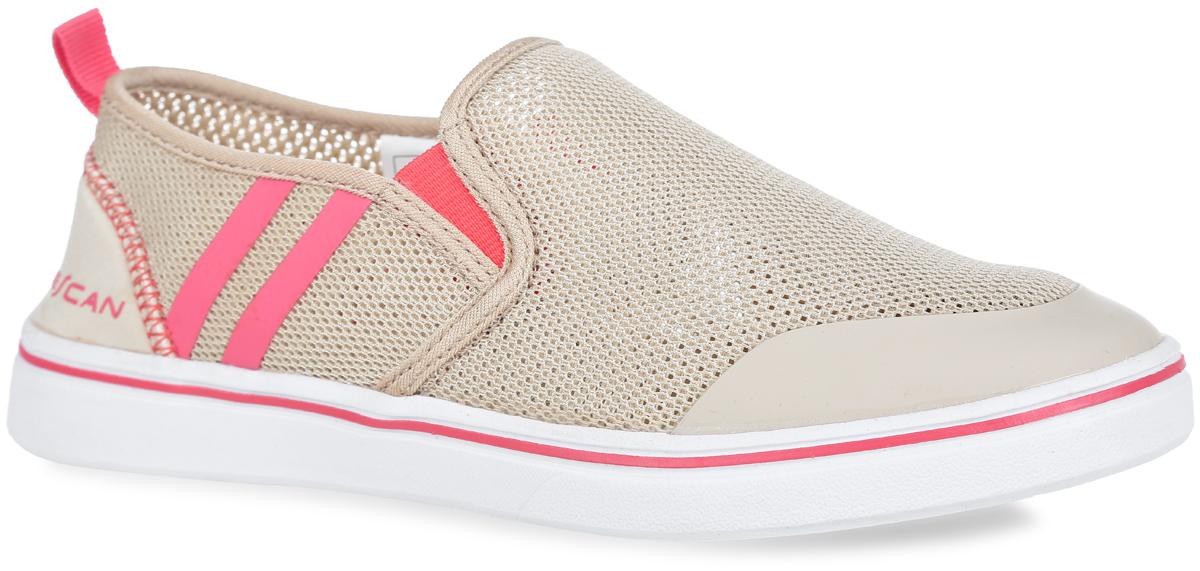 Слипоны женские Escan Sport, цвет: светло-бежевый, коралловый. ES660515-2. Размер 36 (37,5)ES660515-2Модные женские слипоны Escan Sport покорят вас с первого взгляда! Модель изготовлена из прочного текстиля и оформлена по бокам контрастными полосками. Эластичные вставки на подъеме гарантируют идеальную посадку обуви на вашей ноге. Текстильная подкладка предотвратит натирание. Мягкая стелька из материала EVA с поверхностью из текстиля обеспечивает комфорт и удобство при ходьбе. Гибкая подошва, дополненная рифлением, гарантирует хорошее сцепление с любой поверхностью. Слипоны прекрасно сидят на ноге, их легконадеть и снять - словом, это идеальный выбор для тех, кому нужна современнаяобувь, отвечающая принципу надел и пошел!
