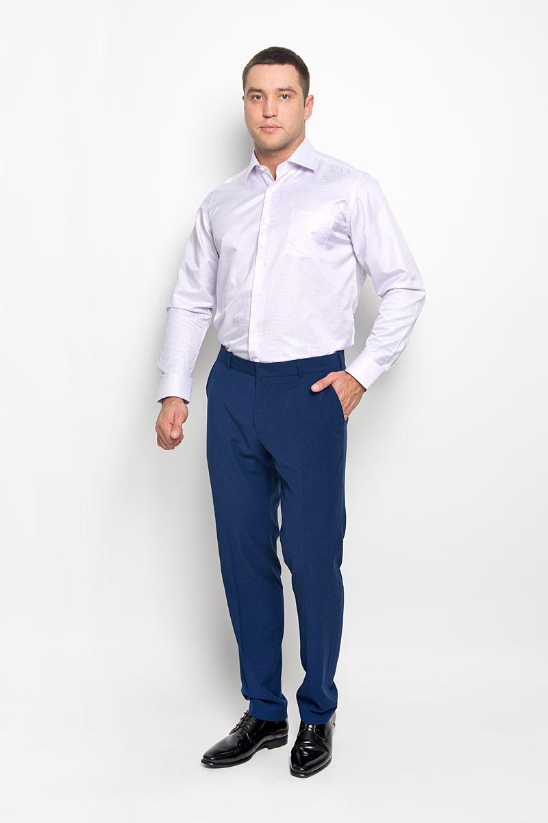 Рубашка мужская KarFlorens, цвет: розовый, белый. SW 74-01. Размер 41/42 (50/52-176)SW 74-01Стильная мужская рубашка KarFlorens, выполненная из хлопка с добавлением микрофибры, подчеркнет ваш уникальный стиль и поможет создать оригинальный образ.Рубашка с длинными рукавами и отложным воротником застегивается на пуговицы спереди. Рукава рубашки дополнены манжетами, которые также застегиваются на пуговицы. Модель оформлена узором в мелкую клетку и дополнена одним нагрудным карманом. Классическая рубашка - превосходный вариант для базового мужского гардероба.Такая рубашка будет дарить вам комфорт в течение всего дня и послужит замечательным дополнением к вашему гардеробу.