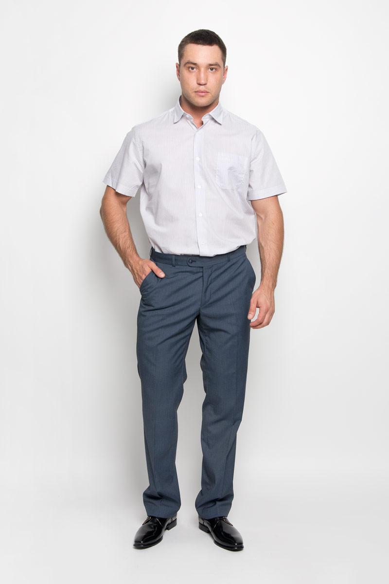 Рубашка мужская KarFlorens, цвет: бежевый, белый. SW 75-04. Размер 41/42 (50/52-176)SW 75-04Стильная мужская рубашка KarFlorens, выполненная из натурального хлопка, подчеркнет ваш уникальный стиль и поможет создать оригинальный образ. Такой материал великолепно пропускает воздух, обеспечивая необходимую вентиляцию, а также обладает высокой гигроскопичностью. Рубашка с короткими рукавами и отложным воротником застегивается на пуговицы спереди. Модель оформлена актуальным узором в узкую полоску и дополнена накладным нагрудным карманом. Классическая рубашка - превосходный вариант для базового мужского гардероба и отличное решение на каждый день. Такая рубашка будет дарить вам комфорт в течение всего дня и послужит замечательным дополнением к вашему гардеробу.