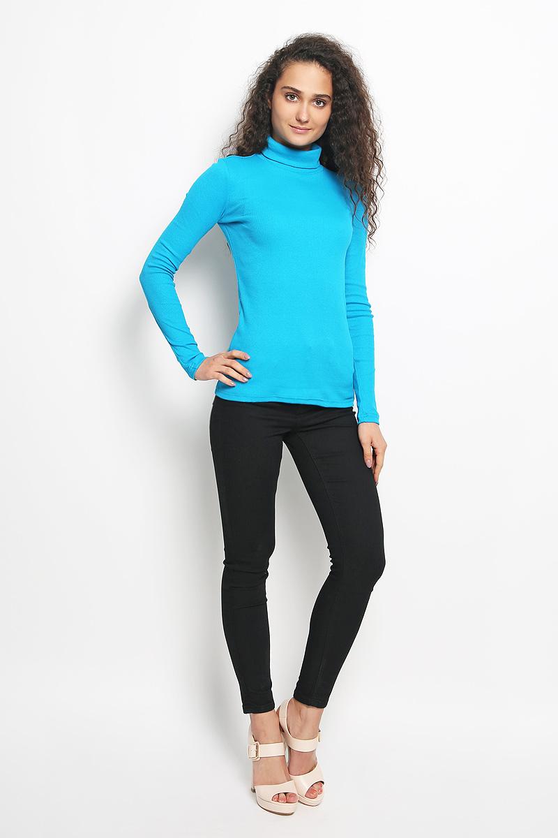 Водолазка женская Rocawear, цвет: ярко-голубой. R041516. Размер S (44)R041516Женская водолазка Rocawear выполнена из мягкого эластичного хлопка. Материал изделия тактильно приятный, не сковывает движения и хорошо вентилируется. Водолазка с воротником-гольф и длинными рукавами имеет слегка приталенный силуэт.Модель идеально подойдет для повседневной носки и обеспечит комфорт и удобство в течение всего дня.