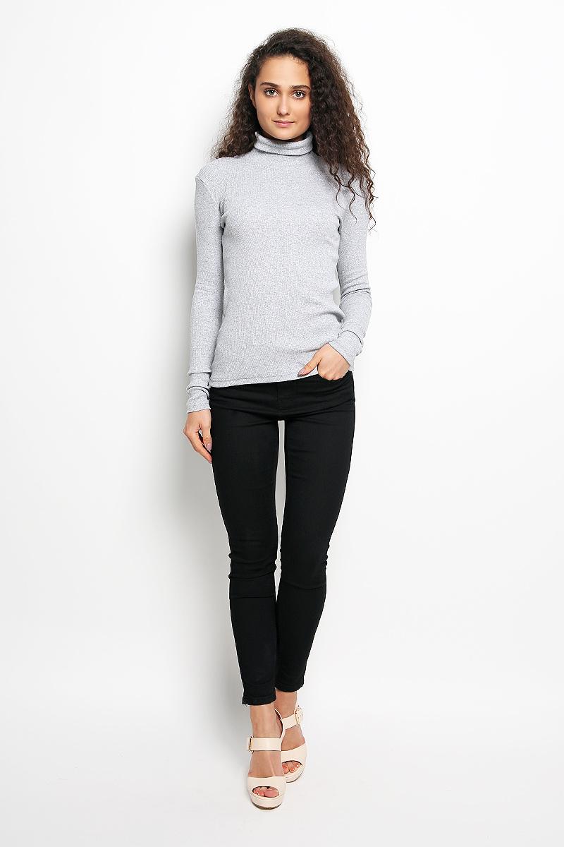 цена  Водолазка женская Rocawear, цвет: серый меланж. R041516. Размер S (44)  онлайн в 2017 году