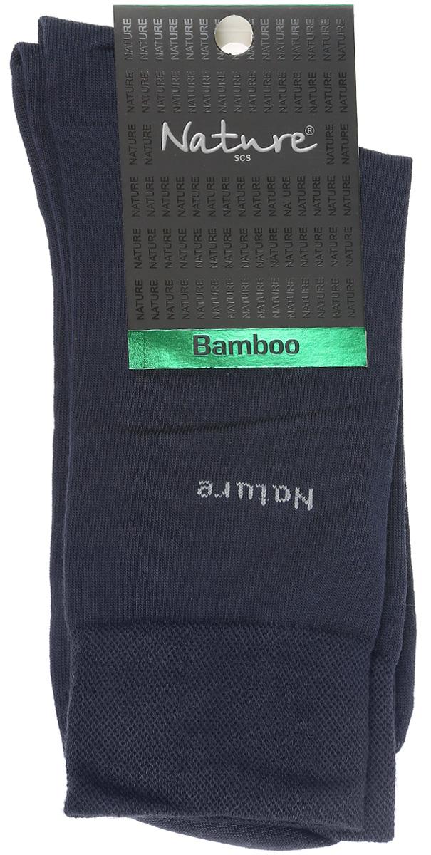 Носки мужские Nature, цвет: темный серо-синий. 414. Размер 25/27414Удобные мужские носки Nature, изготовленные из высококачественного комбинированного материала, идеально подойдут для повседневной носки. Благодаря содержанию мягких бамбуковых волокон в составе, кожа сможет дышать, полиамид обеспечивает износостойкость, а эластан позволяет носочкам легко тянуться, что делает их комфортными в носке. Эластичная резинка плотно облегает ногу, не сдавливая ее, обеспечивая комфорт и удобство. Практичные и комфортные носки с укрепленным мыском и пяткой великолепно подойдут к вашей повседневной обуви.