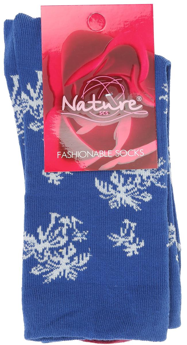 Носки женские Nature, цвет: синий. 821ж. Размер 23/25821жУдобные женские носки Nature, изготовленные из высококачественного комбинированного материала, идеально подойдут для повседневной носки. Благодаря содержанию мягкого хлопка в составе, кожа сможет дышать, полиамид обеспечивает износостойкость, а эластан позволяет носочкам легко тянуться, что делает их комфортными в носке. Эластичная резинка плотно облегает ногу, не сдавливая ее, обеспечивая комфорт и удобство и не препятствуя кровообращению. Практичные и комфортные носки с укрепленным мыском и пяткой великолепно подойдут к вашей повседневной обуви.