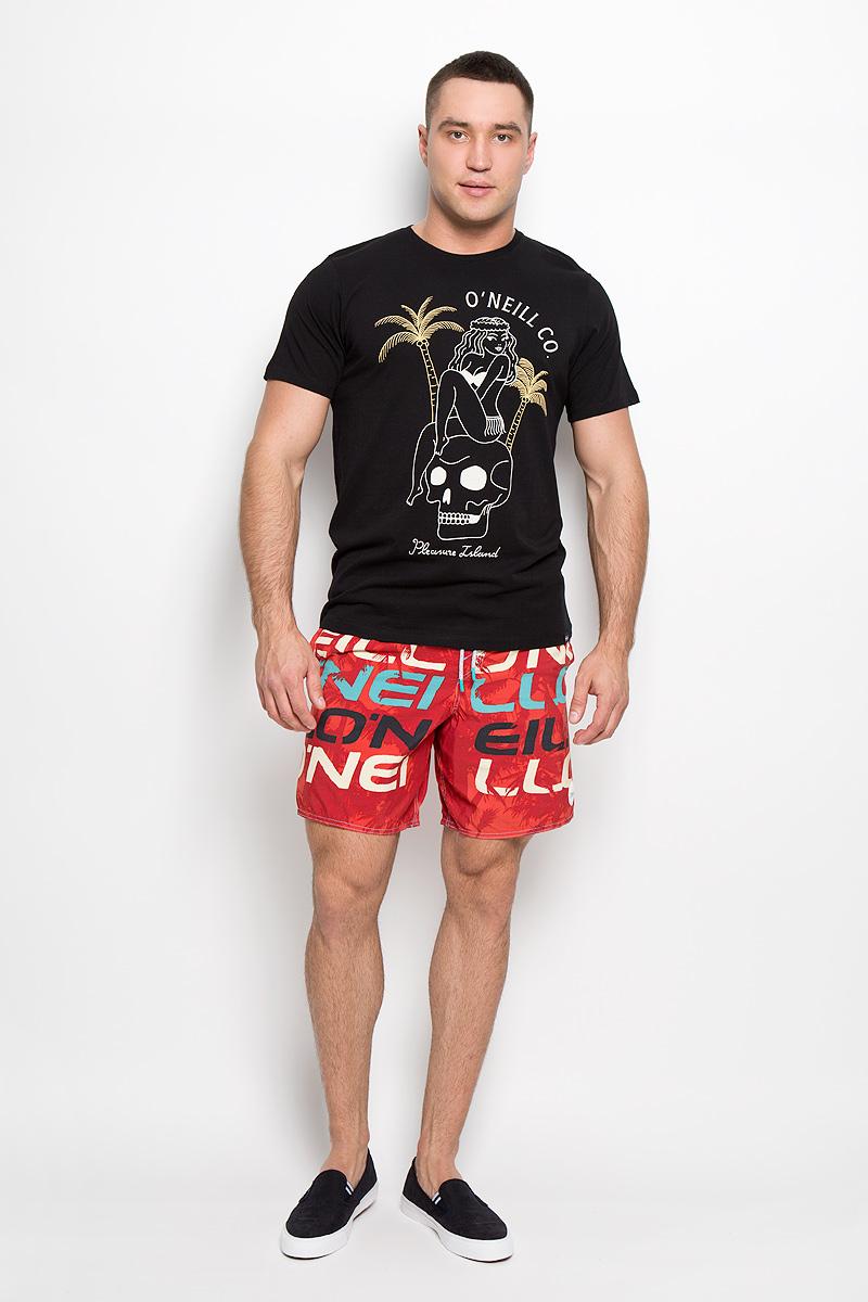 Футболка мужская ONeill, цвет: черный. 602341-9010. Размер M (48)602341-9010Стильная мужская футболка ONeill, выполненная из высококачественного хлопка, обладает высокой воздухопроницаемостью и гигроскопичностью, позволяет коже дышать. Такая футболка великолепно подойдет как для повседневной носки, так и для спортивных занятий.Модель с короткими рукавами и круглым вырезом горловины - идеальный вариант для создания модного современного образа. Футболка оформлена принтом с изображением девушки, сидящей на черепе, и надписью Pleasure Island.Такая модель подарит вам комфорт в течение всего дня и послужит замечательным дополнением к вашему гардеробу.