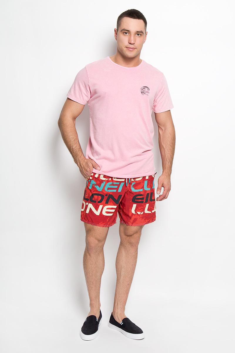 Футболка мужская ONeill, цвет: розовый. 602310-4026. Размер M (48)602310-4026Стильная мужская футболка ONeill, выполненная из высококачественного натурального хлопка, обладает высокой воздухопроницаемостью и гигроскопичностью, позволяет коже дышать. Такая футболка великолепно подойдет как для повседневной носки, так и для спортивных занятий, она не будет стеснять движений и станет незаменимой в жаркие летние дни.Модель с короткими рукавами и круглым вырезом горловины - идеальный вариант для создания модного современного образа. Футболка оформлена принтом с логотипом бренда спереди и на спинке. Такая модель подарит вам комфорт в течение всего дня и послужит замечательным дополнением к вашему гардеробу.