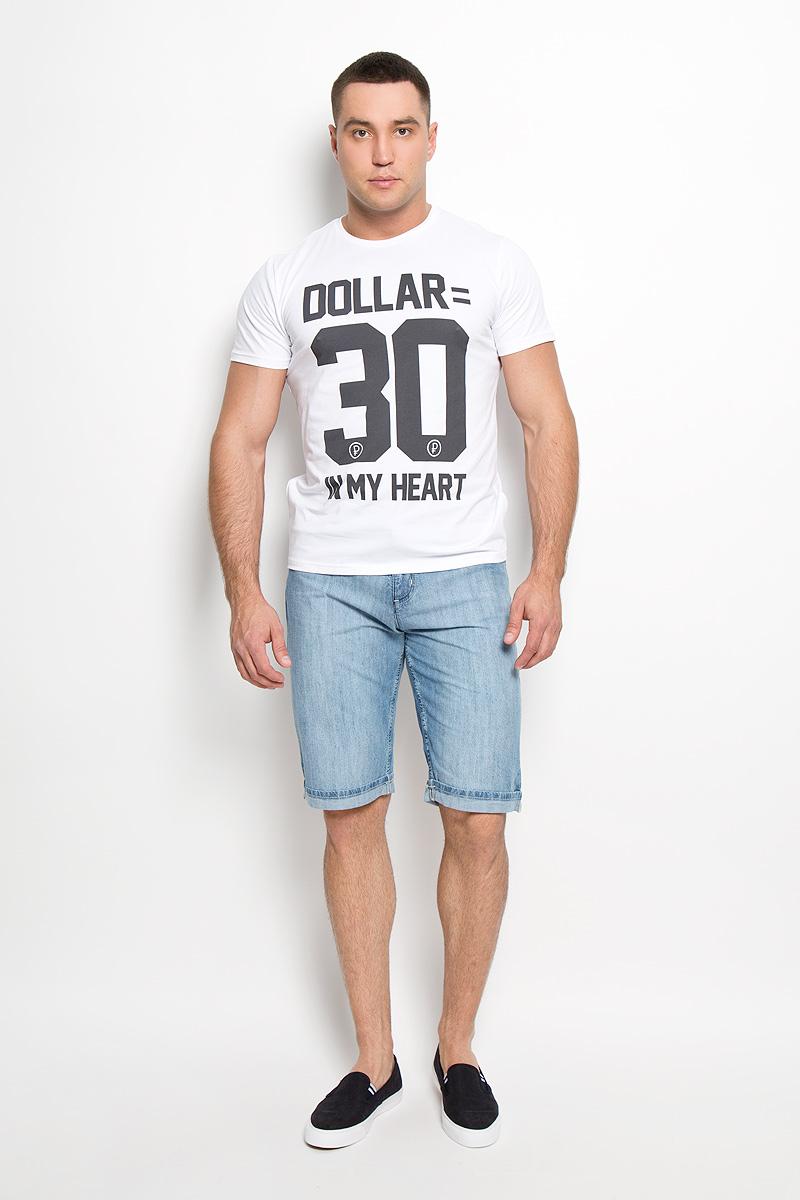 Шорты мужские F5, цвет: голубой. 160153_0889. Размер 29 (44/46)160153_0889Стильные и практичные мужские джинсовые шорты F5 великолепно подойдут для повседневной носки и помогут вам создать незабываемый современный образ. Классическая модель стандартной посадки изготовлена из натурального хлопка, благодаря чему великолепно пропускает воздух, обладает высокой гигроскопичностью и превосходно сидит. Шорты застегиваются на ширинку на застежке-молнии, а также пуговицу на поясе. На поясе расположены шлевки для ремня. Шорты имеют классический пятикарманный крой, они оснащены двумя втачными карманами и небольшим накладным кармашком спереди, и двумя втачными карманами сзади. Брючины модели украшены декоративными отворотами.Эти модные и в тоже время удобные шорты станут великолепным дополнением к вашему гардеробу. В них вы всегда будете чувствовать себя уверенно и комфортно.