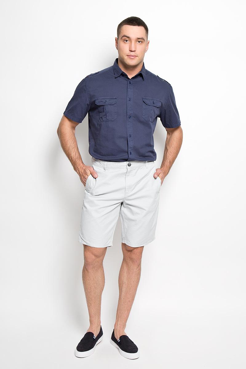 Шорты мужские Sela, цвет: светло-серый. Ps-215/473-6217. Размер XS (44)Ps-215/473-6217Стильные и практичные мужские шорты Sela великолепно подойдут для повседневной носки и помогут вам создать незабываемый современный образ. Классическая модель стандартной посадки изготовлена из натурального хлопка, благодаря чему великолепно пропускает воздух, обладает высокой гигроскопичностью и превосходно сидит. Шорты застегиваются на ширинку на застежке-молнии, а также пуговицу на поясе. На поясе расположены шлевки для ремня. Шорты оснащены двумя втачными карманами по бокам и двумя втачными карманами на пуговицах сзади.Эти модные и в тоже время удобные шорты станут великолепным дополнением к вашему гардеробу. В них вы всегда будете чувствовать себя уверенно и комфортно.