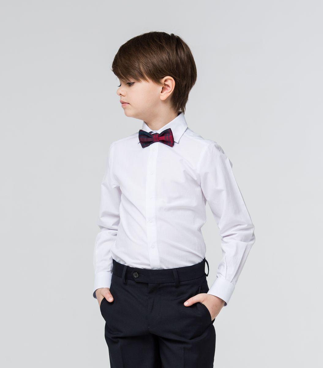Рубашка для мальчика Silver Spoon, цвет: белый, светло-голубой. SSFSB-629-13831-299. Размер 158