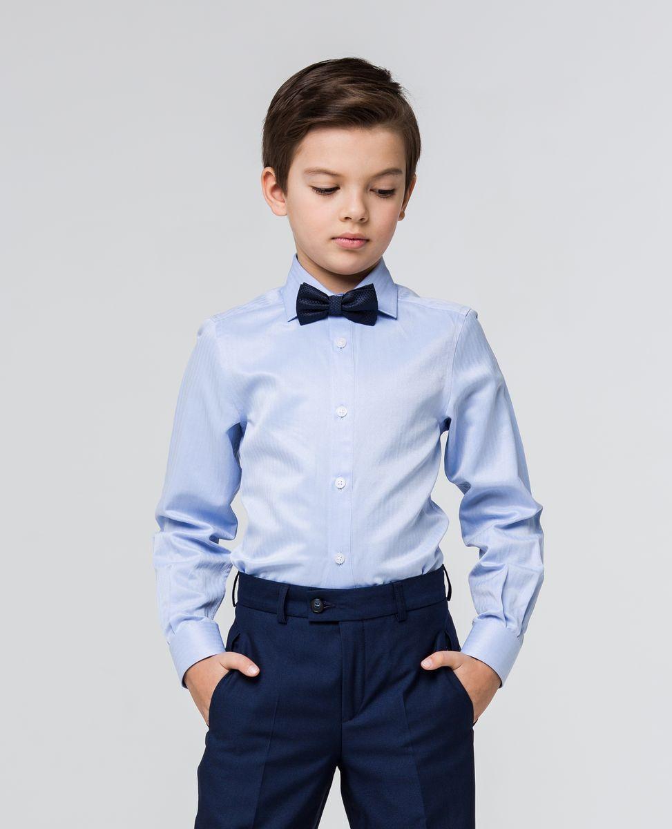 Рубашка для мальчика Silver Spoon, цвет: голубой. SSFSB-629-13831-328. Размер 164SSFSB-629-13831-328Стильная рубашка Silver Spoon станет отличным дополнением к школьному гардеробу вашего мальчика. Модель, выполненная из хлопка с добавлением полиэстера, необычайно мягкая и приятная на ощупь, не сковывает движения и позволяет коже дышать. Рубашка классического кроя с длинными рукавами и отложным воротником застегивается на пуговицы по всей длине. На манжетах предусмотрены застежки-пуговицы.