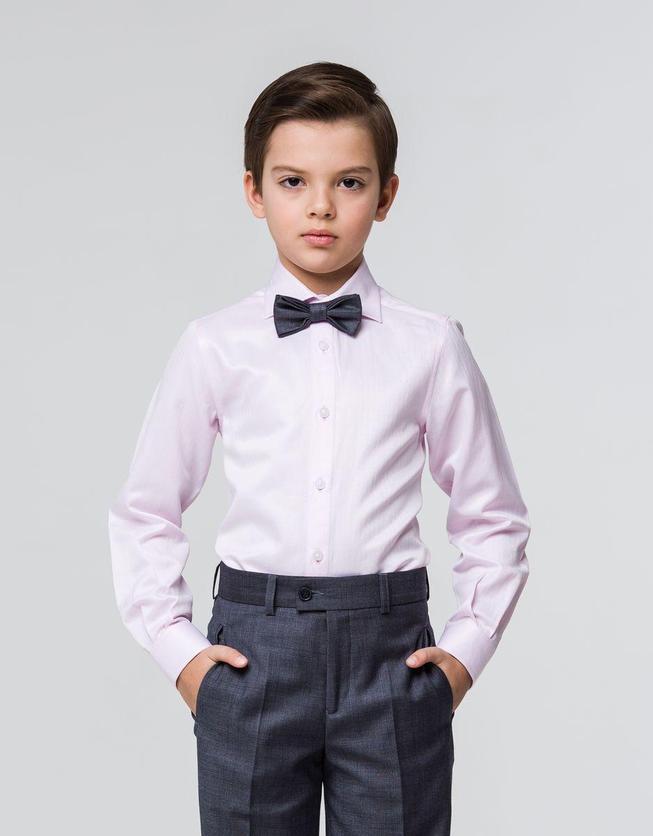 Рубашка для мальчика Silver Spoon, цвет: светло-розовый. SSFSB-629-13831-420. Размер 146SSFSB-629-13831-420Стильная рубашка Silver Spoon станет отличным дополнением к школьному гардеробу вашего мальчика. Модель, выполненная из хлопка с добавлением полиэстера, необычайно мягкая и приятная на ощупь, не сковывает движения и позволяет коже дышать. Рубашка классического кроя с длинными рукавами и отложным воротником застегивается на пуговицы по всей длине. На манжетах предусмотрены застежки-пуговицы.