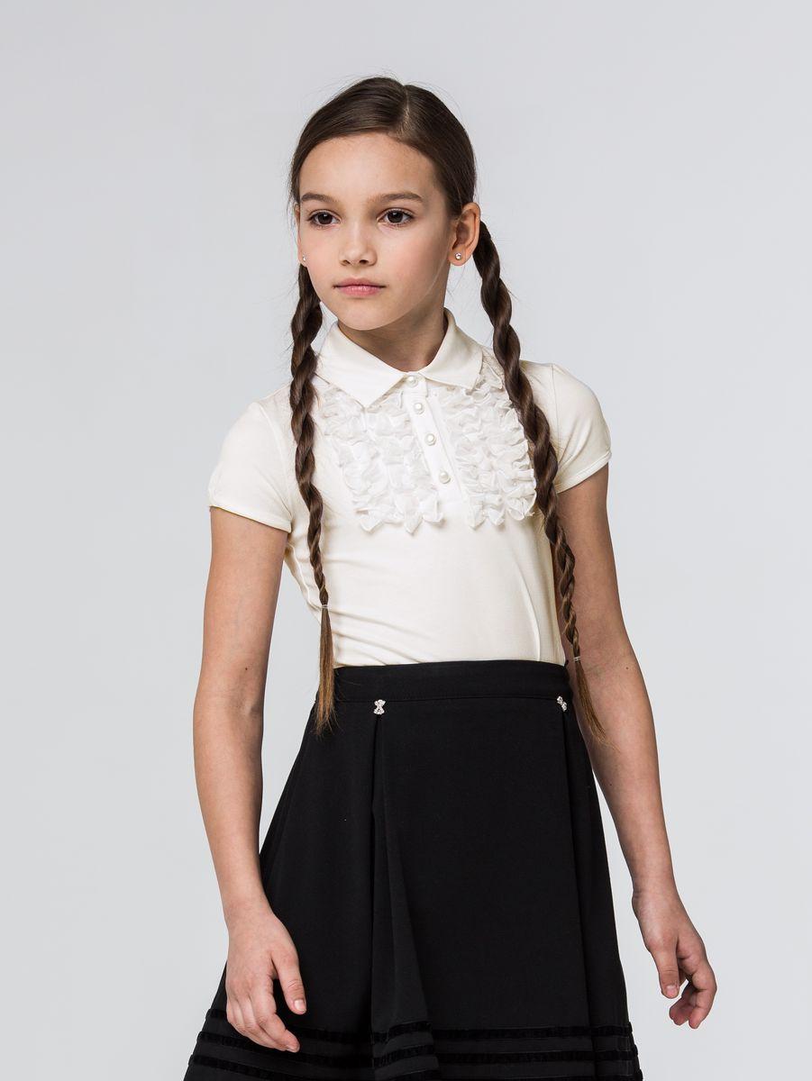Блузка для девочек Silver Spoon, цвет: розовый. SSFSG-628-23171-201. Размер 134SSFSG-628-23171-201